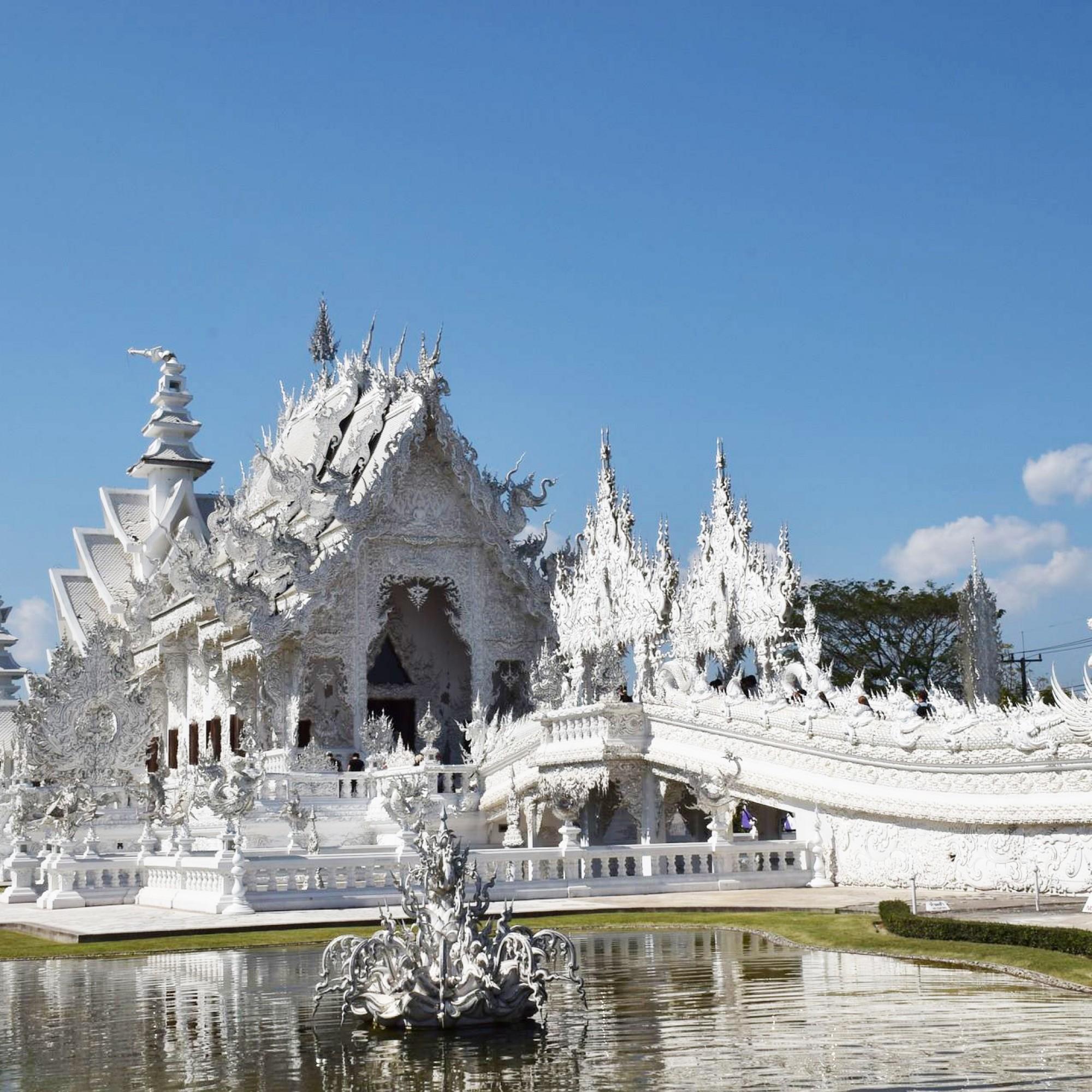 Der weisse Tempel von Chiang Rai.