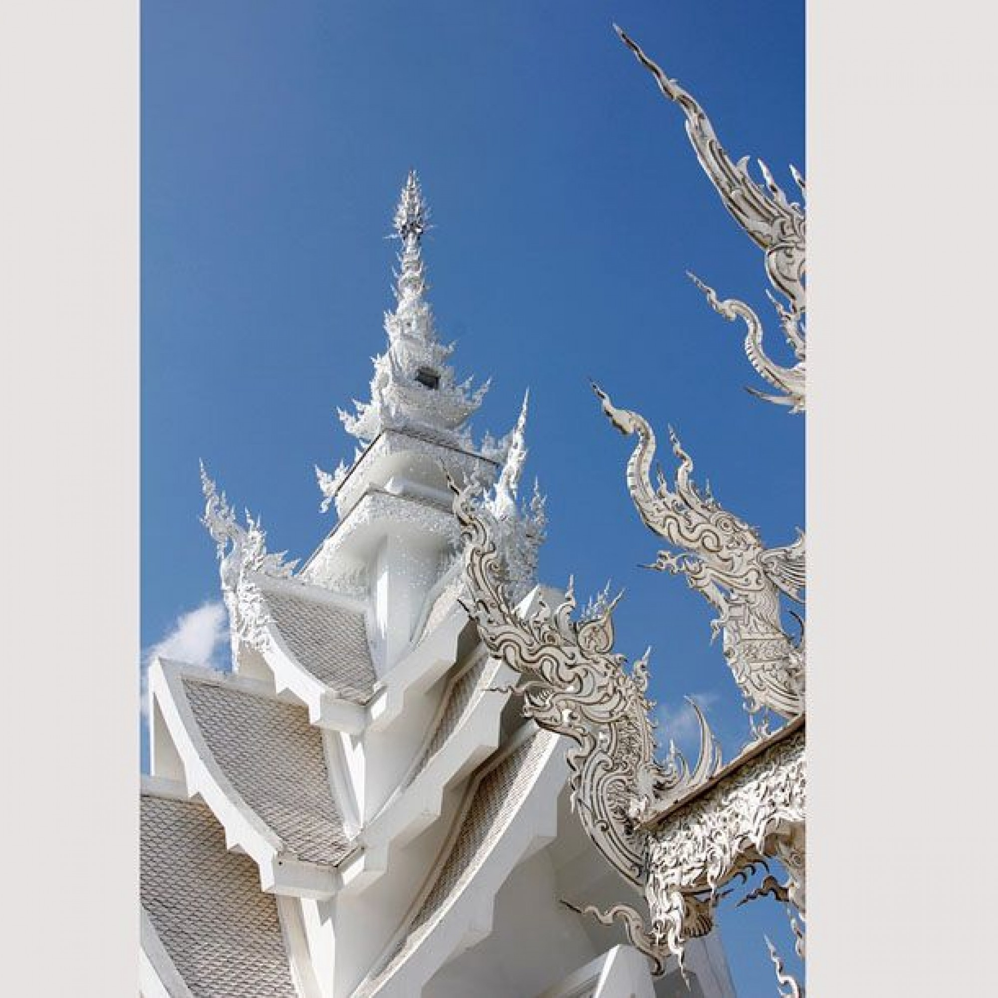 Details des Daches von Wat Rong Khun.