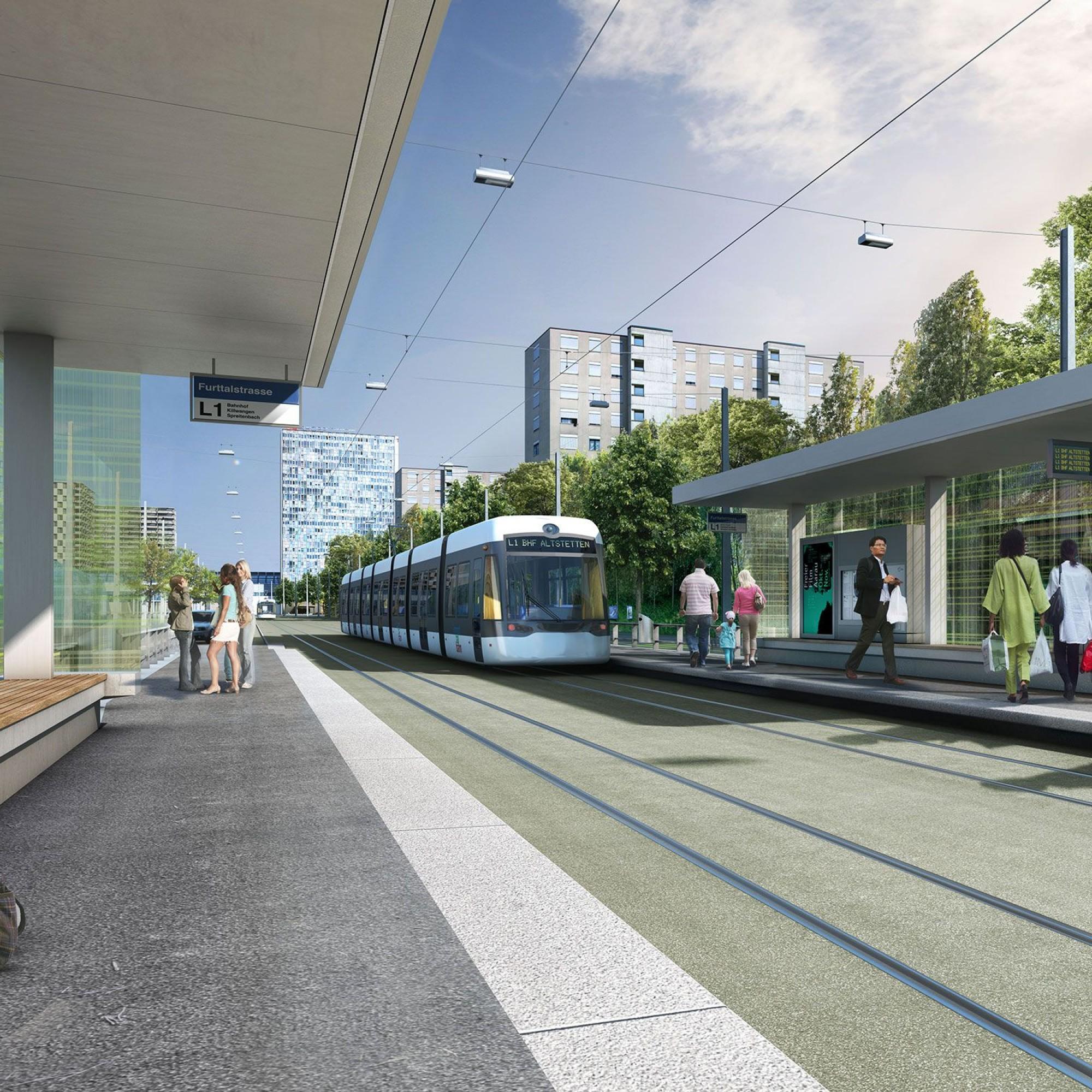Visualisierung Furttalstrasse, Limmatbahn