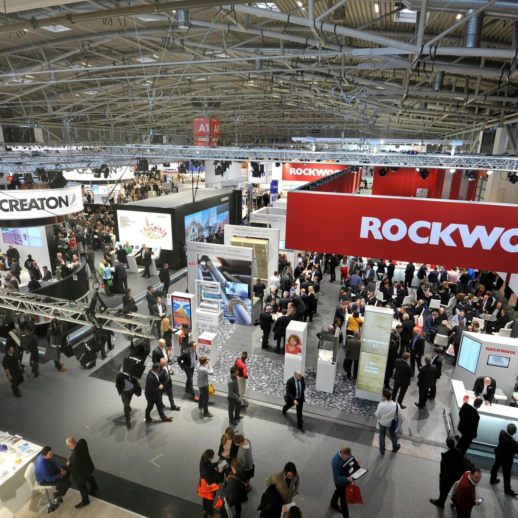 Die Bau München ist die Weltleitmesse für Architektur, Materialien und Systeme