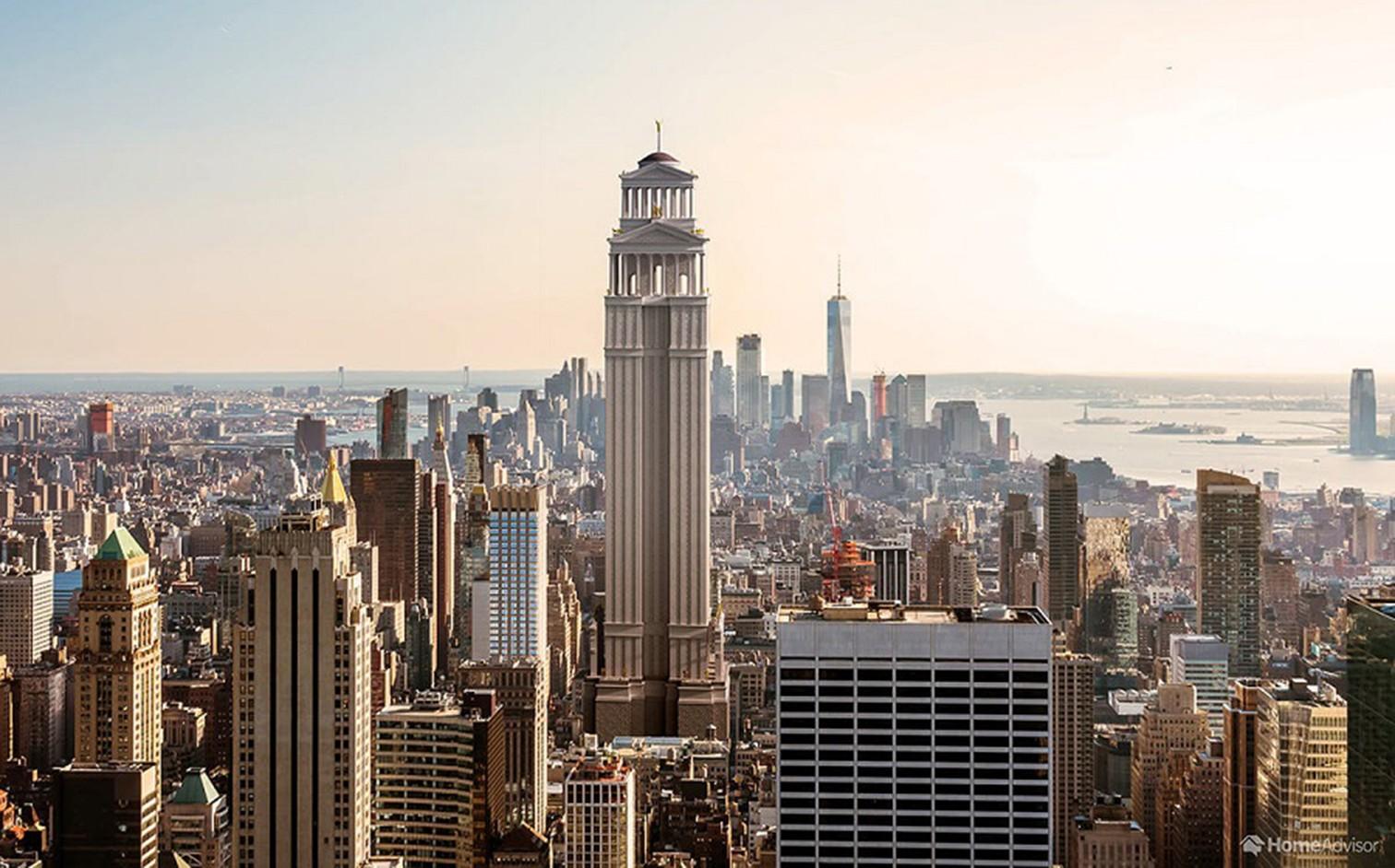 So würde der bekannte Wolkenkratzer mit römischer Architektur aussehen. Die römischen Architektenwaren grosse Innovatoren und entwickelten gar neue Bautechniken. So warensie zum Beispiel die erste Zivilisation, die ihre Strukturen unterstützte. Davon ze
