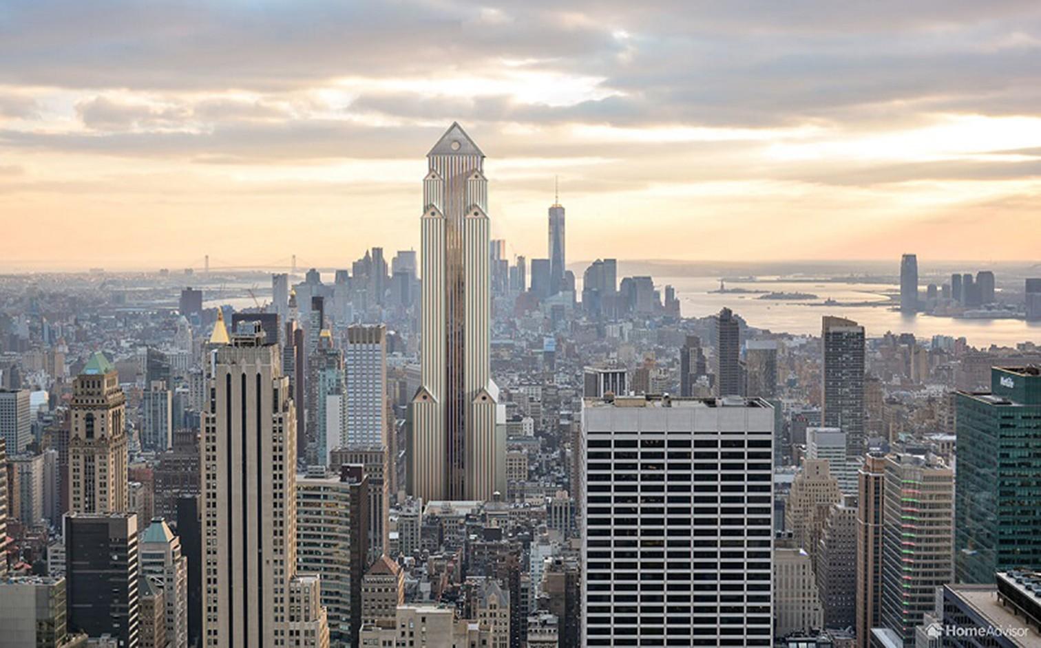 Der Wolkenkratzer in postmoderner Architektur: In den späten 1960er-Jahren begannen viele Architekten, moderneAnsichten zu hinterfragen. Viele wollten sich von der Formalität und dem Mangel an Vielfalt moderner Architektur abwenden. Das Resultat ist ein