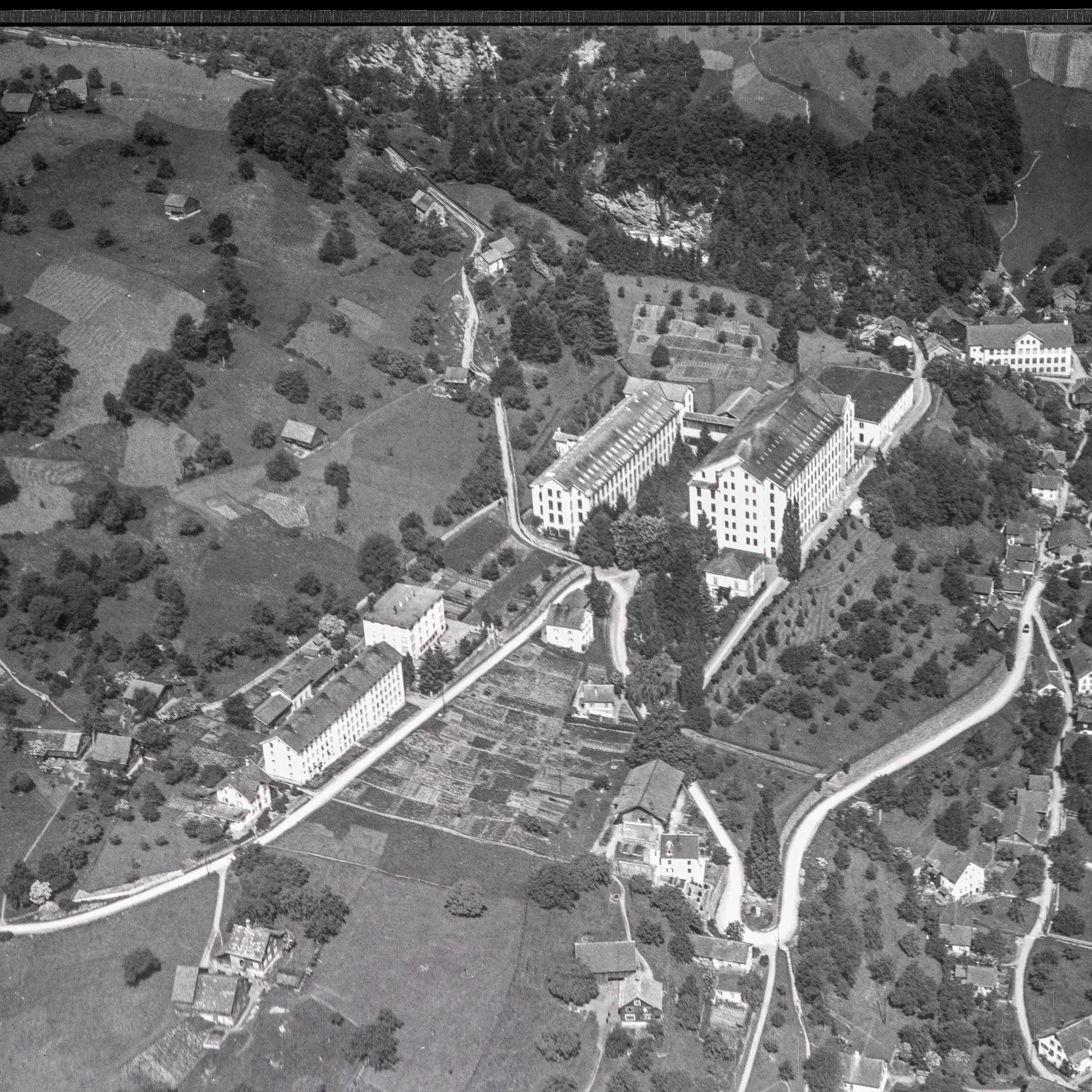 Historische Luftaufnahme Stoffel Mels
