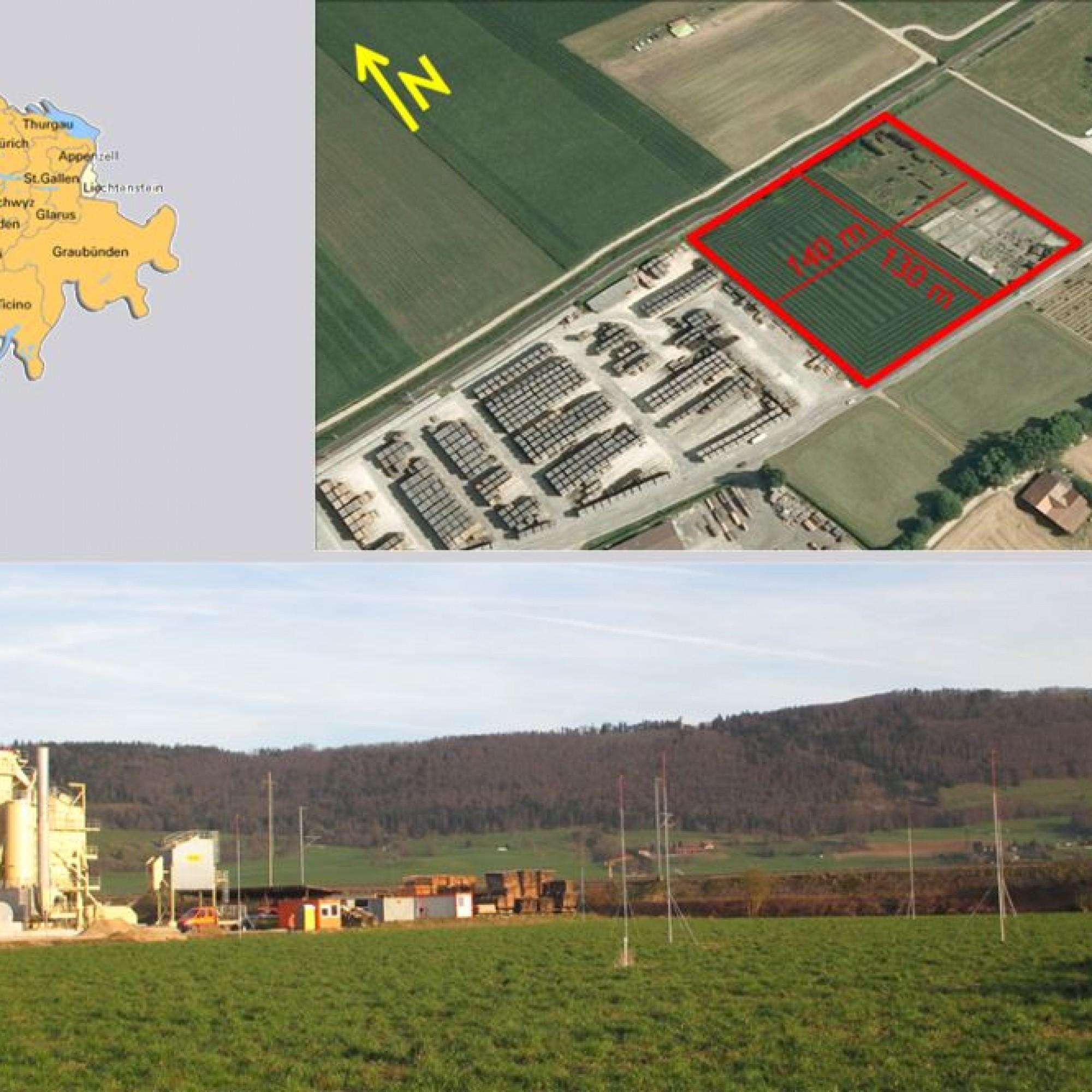 Standort des geplanten Kraftwerks.