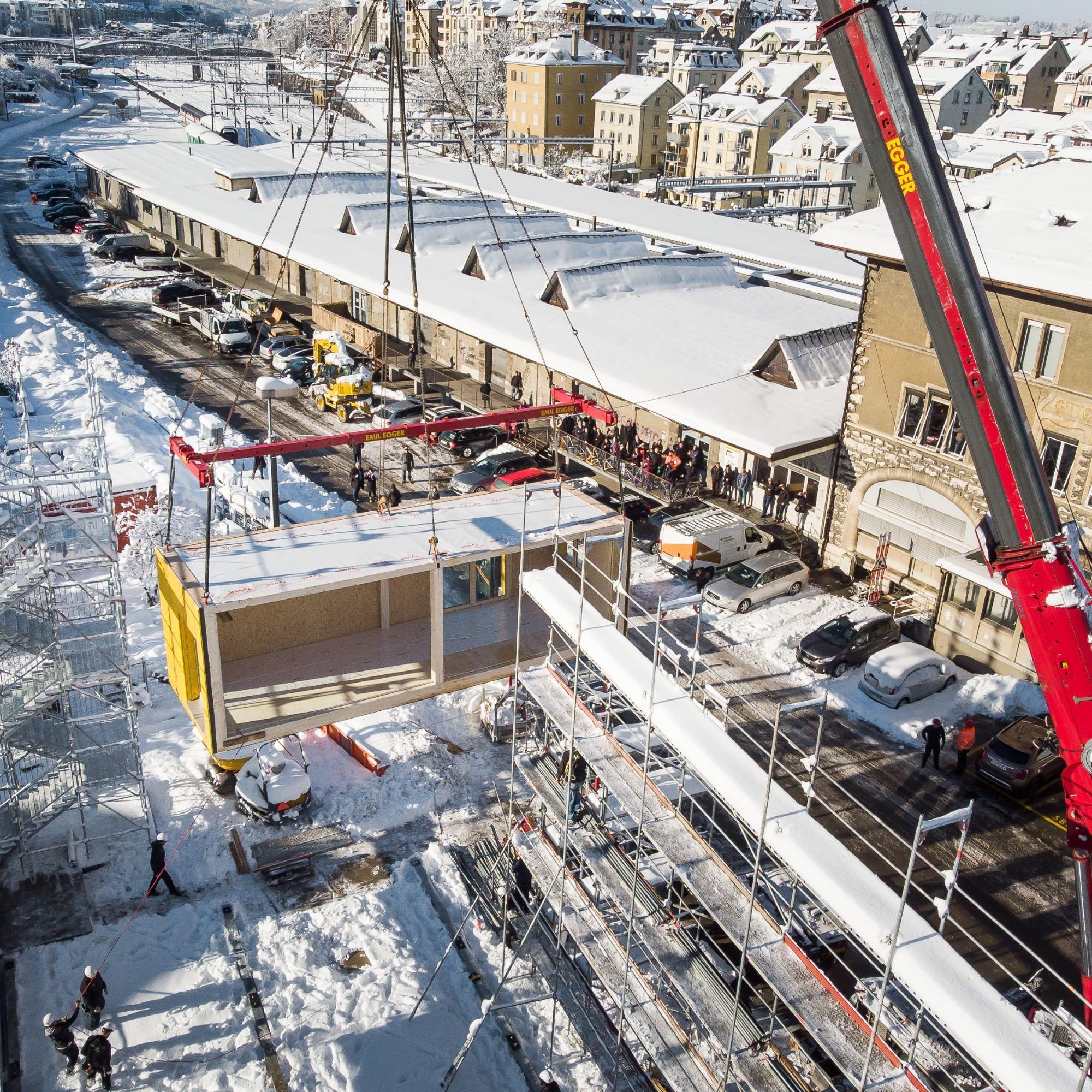 In 45 von insgesamt 48 Modulen sollen Werkstätten, Ateliers und Büros entstehen.