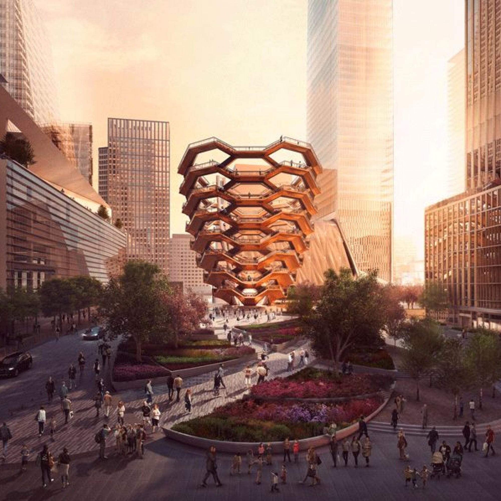 Visualisierung von «The Vessel»: Nun wurde die Aussichtsplattform in New York eröffnet.