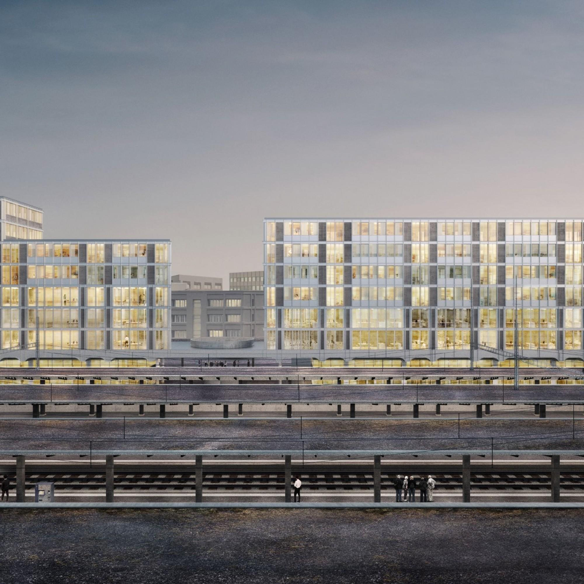 Die Südseite des Bahnhofs Aarauwird um einen neuen Komplex erweitert.