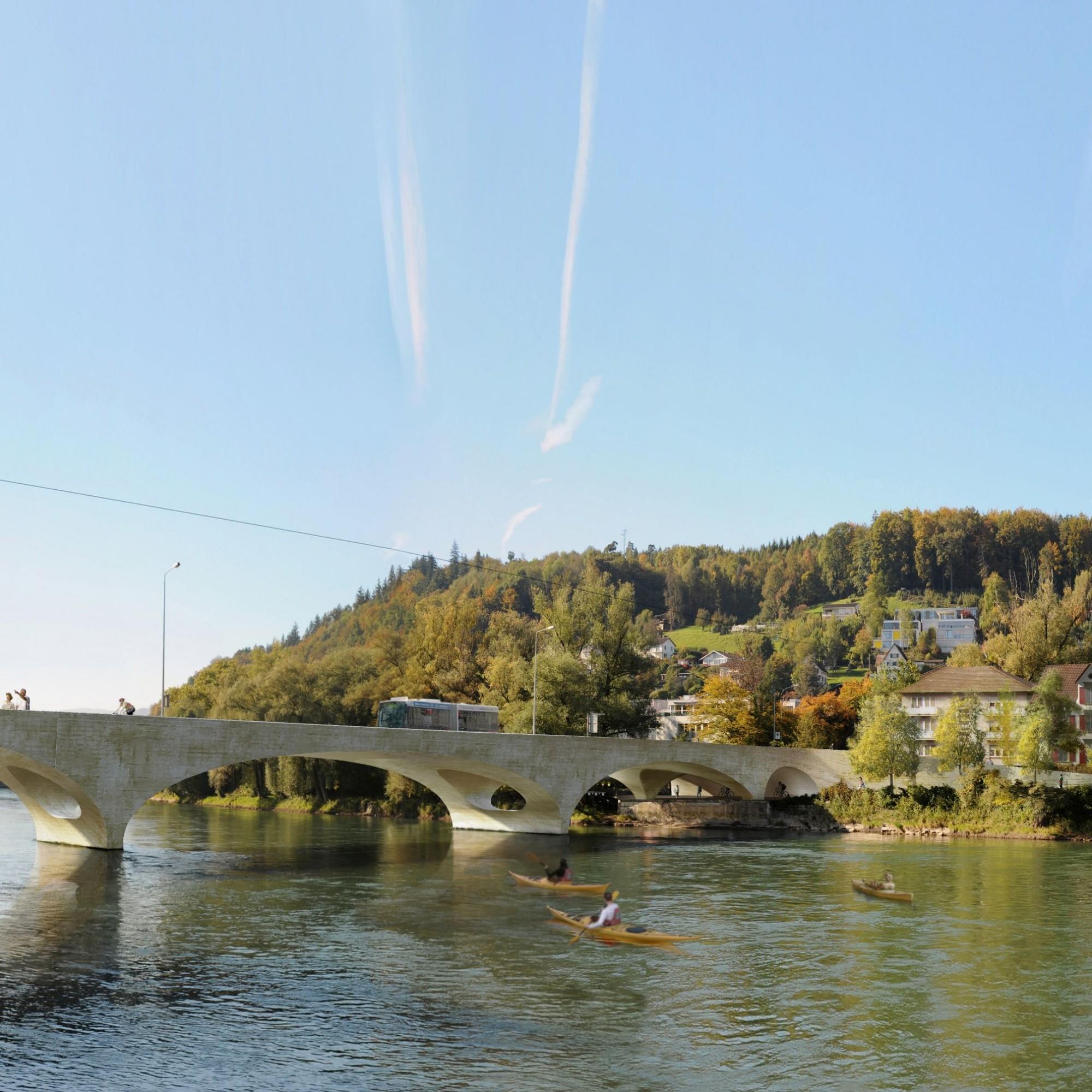 Der Ersatz der in die Jahre gekommenen Kettenbrücke kann nun in Angriff genommen werden.