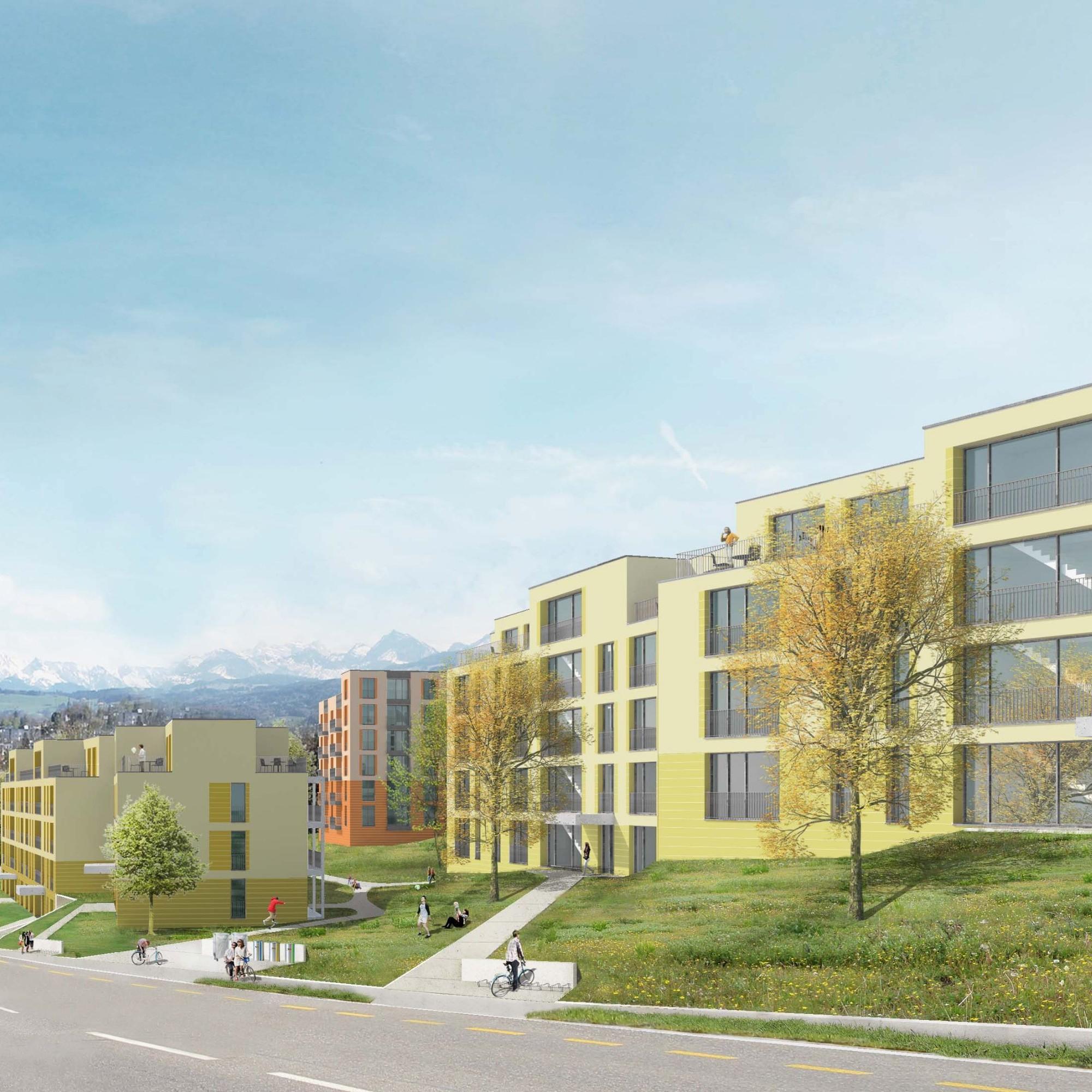 Visualisierung Siedlung Hangenmoos.