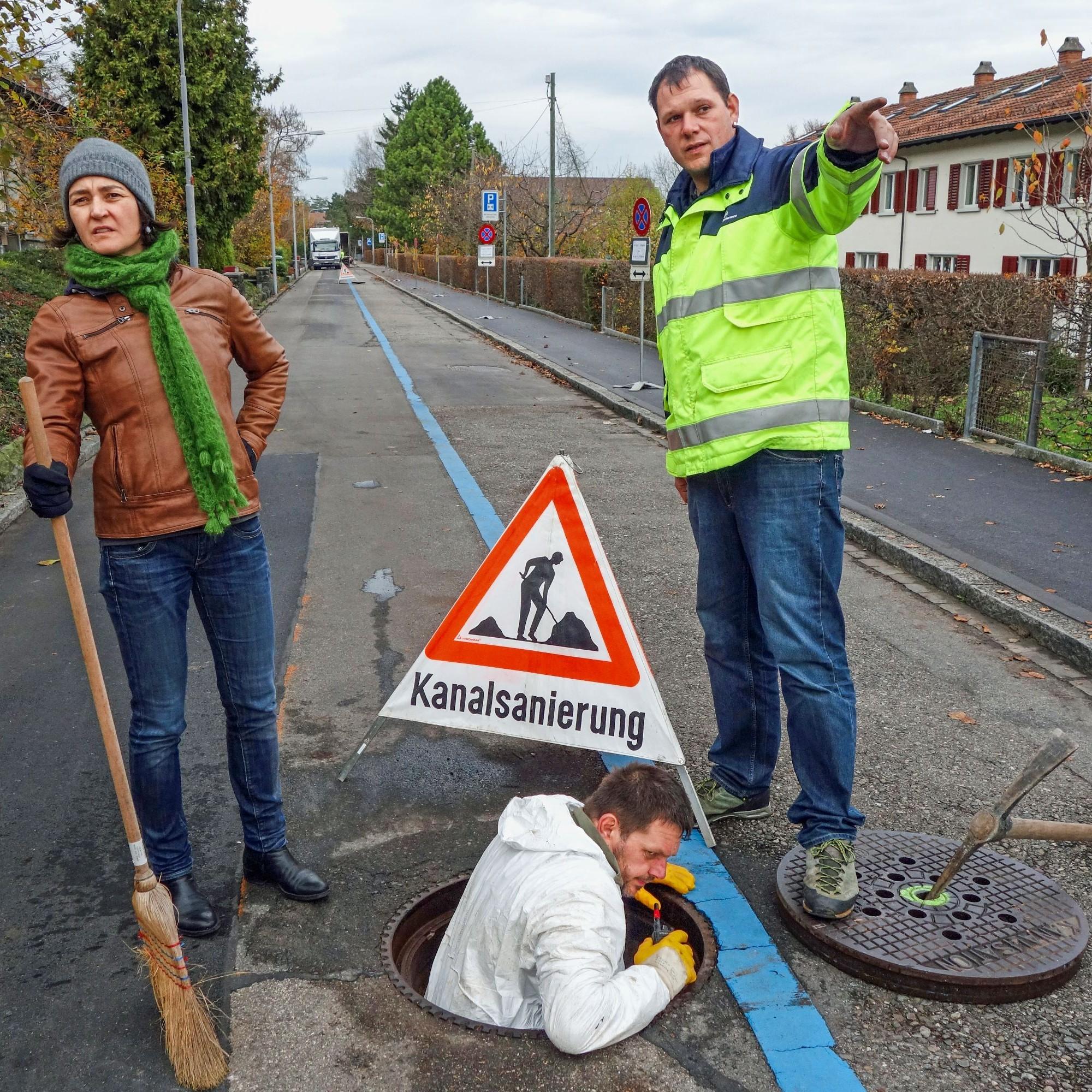 Instandhaltung des Abwassersystems: Im Rossweidli am Zürcher Friesenberg mussten die Kanäle saniert werden.