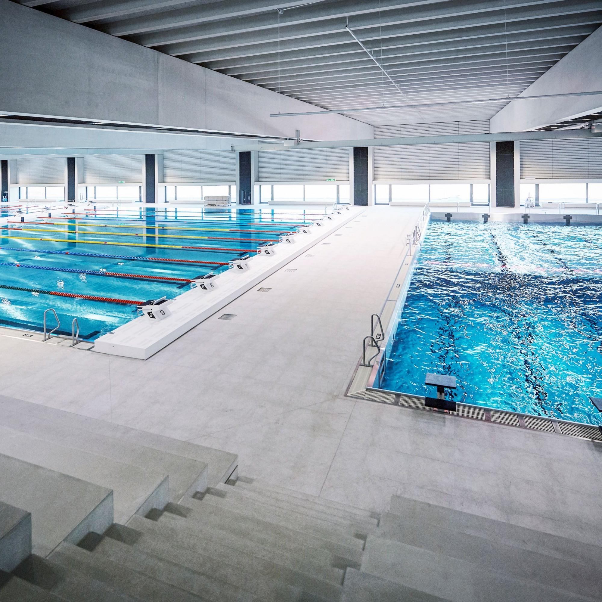 Das neue Sportmekka des Campus Sursee wartet unter anderem miteinem olympischen 50-Meter-Becken sowie einem 25-Meter-Pool, Warmwasserbereich und Kinder- und Familien-Pool auf.