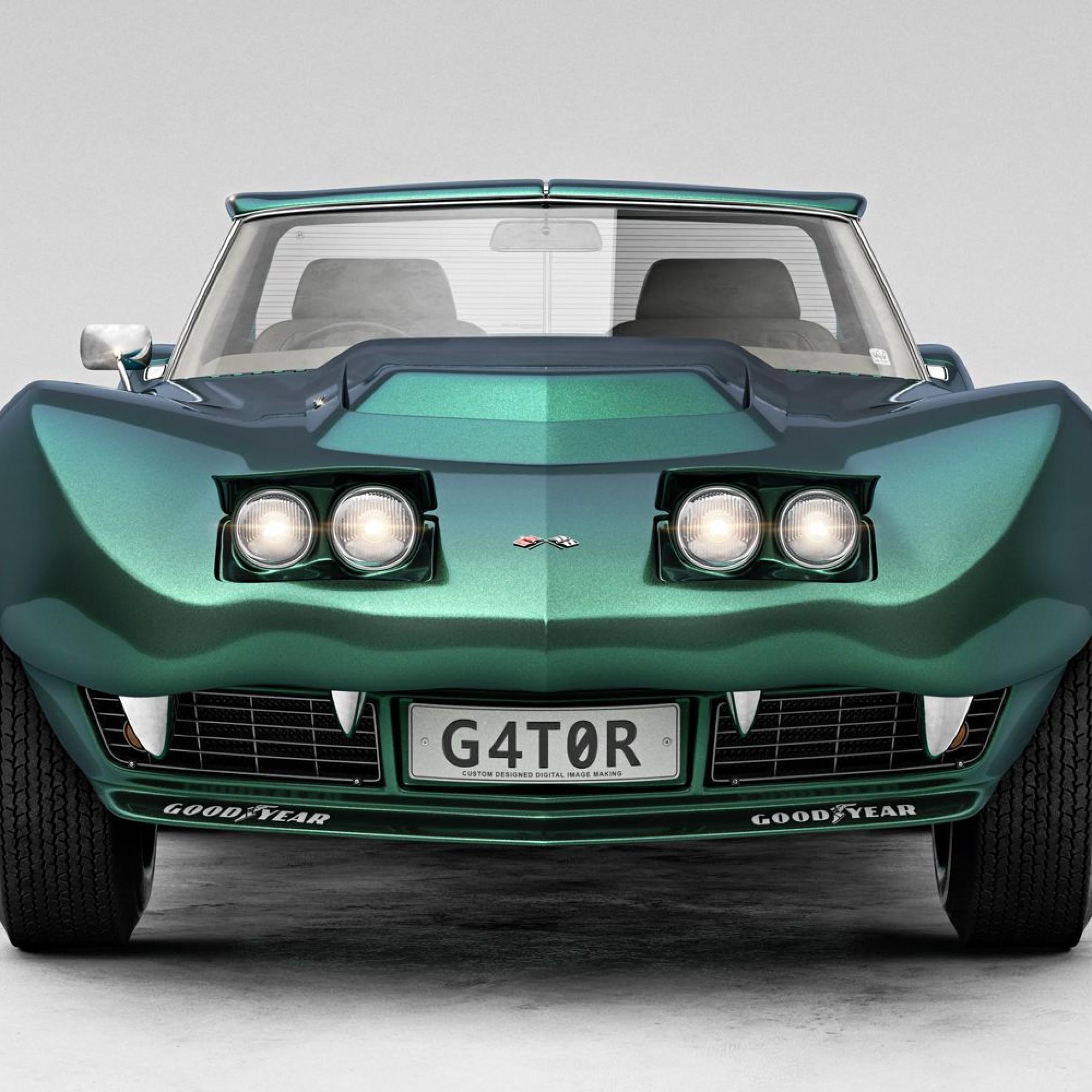Zum Schluss folgt eine leistungsstarke Maschine: Ein Chevrolet Corvette Stingray mit Baujahr 1968.
