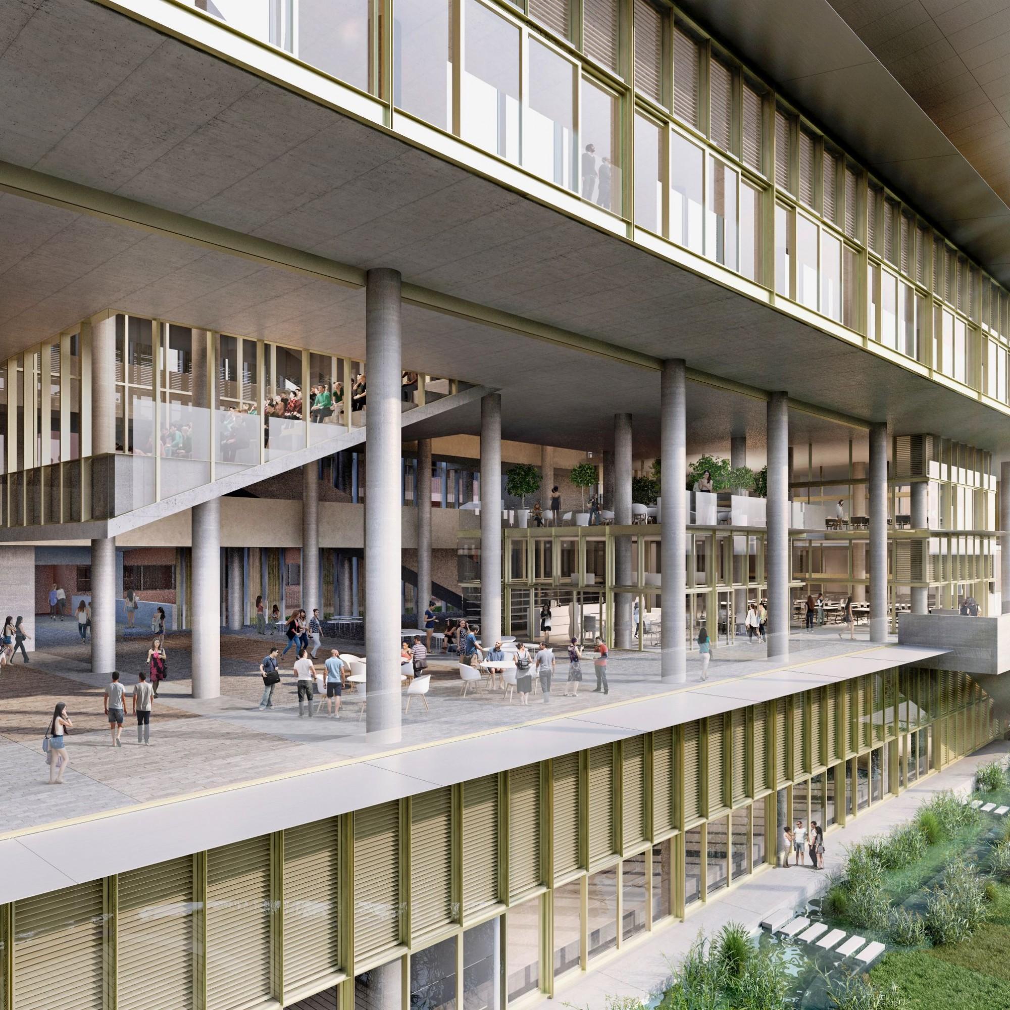 Netto-Nullenergiegebäude: Der neue Erweiterungsbau der «School of Design & Environment» in Singapur erzeugt so viel Energie, wie er verbraucht.