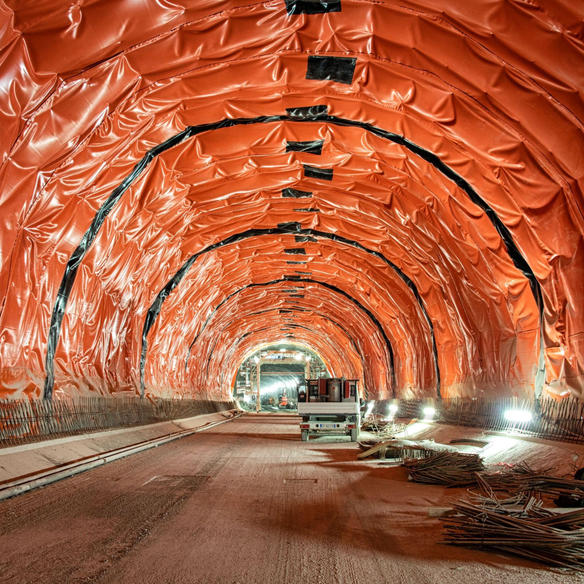 Fertige Bereiche des Brennerbasistunnels an der Eisackunterquerung.