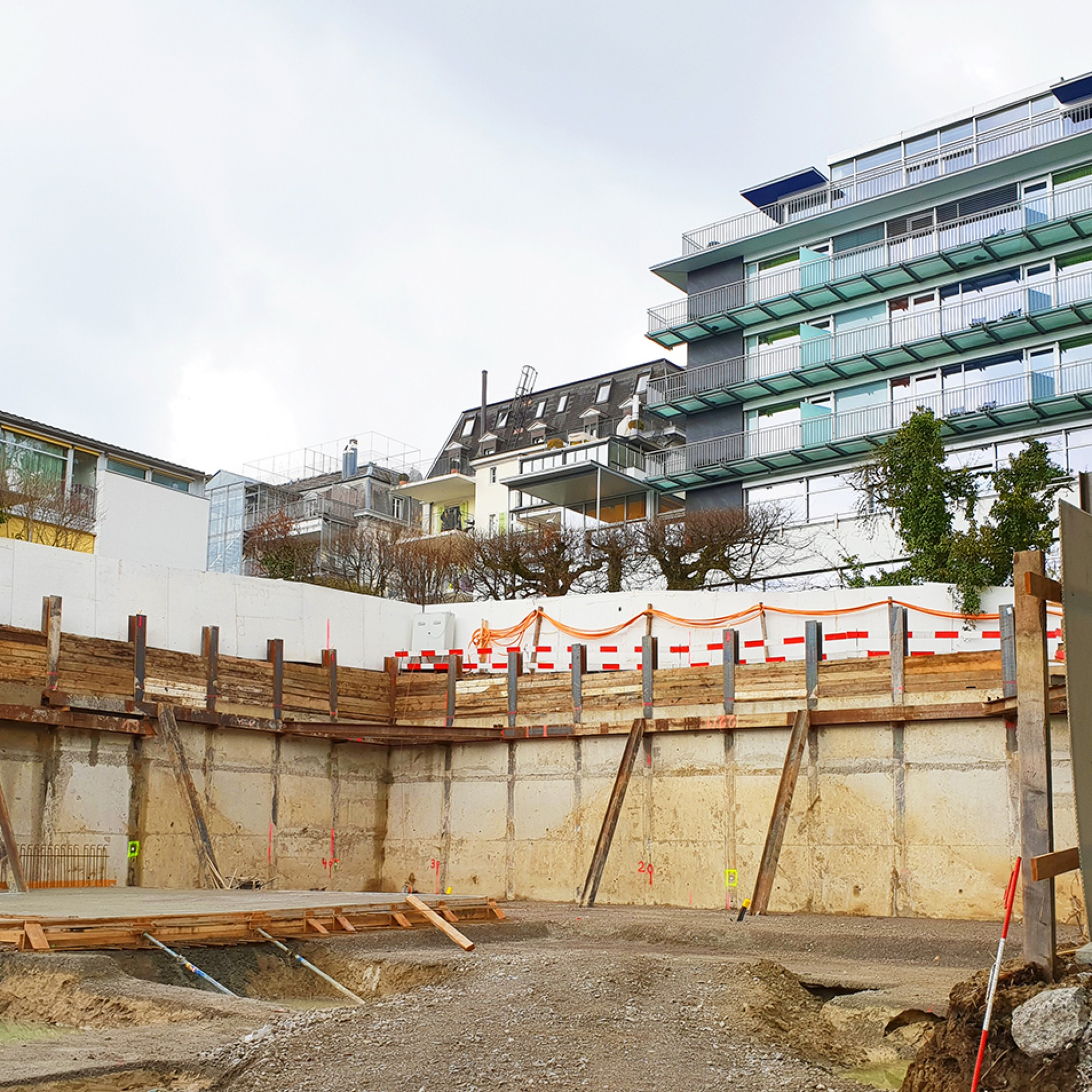 Baustelle in Thalwil, Symbolbild.
