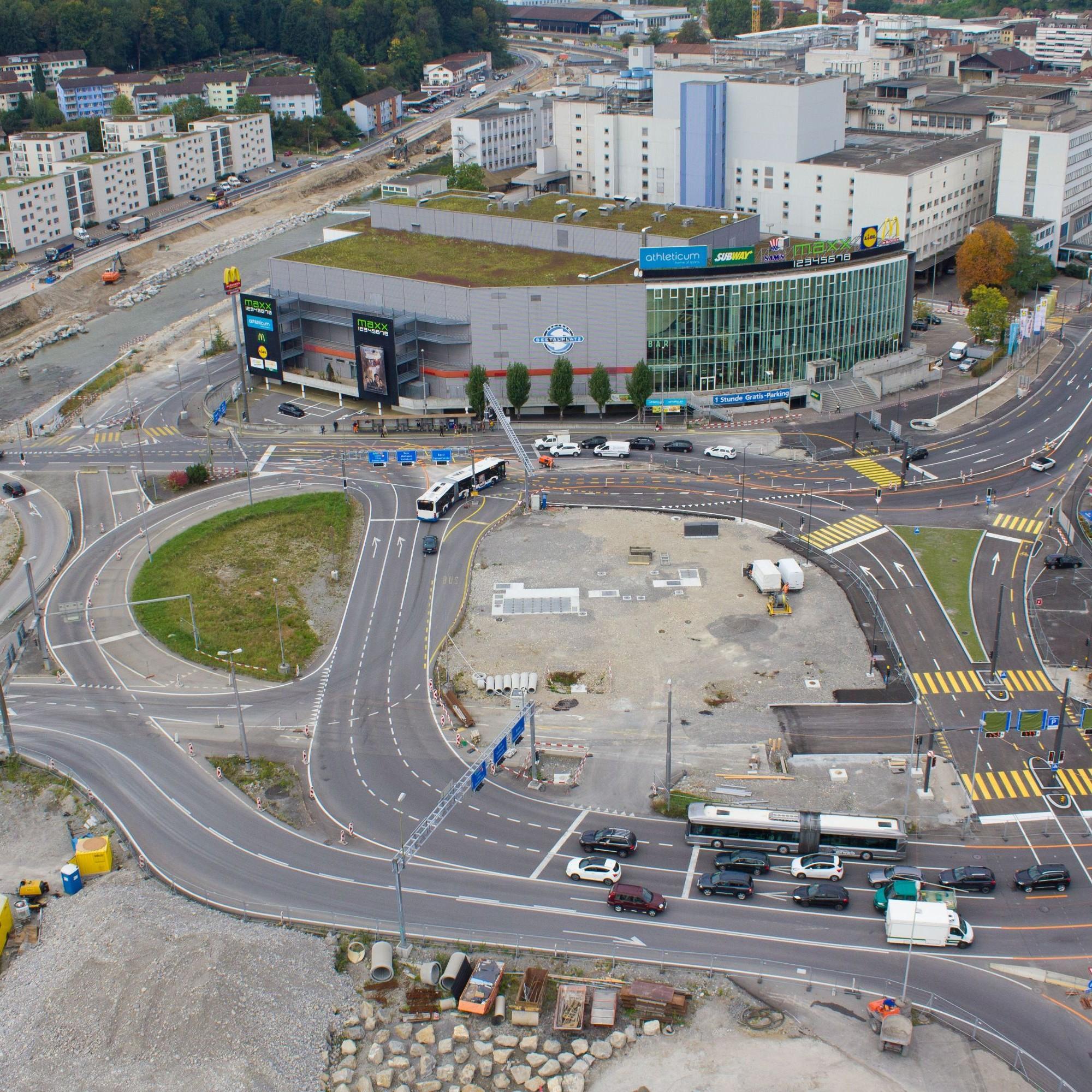 Sieger der Kategorie 2 Infrastrukturbau:Seetalplatz Emmenbrücke, vonEmch+Berger WSB AG, SNZ Ingenieure und Planer AG und Bänziger Partner AG.