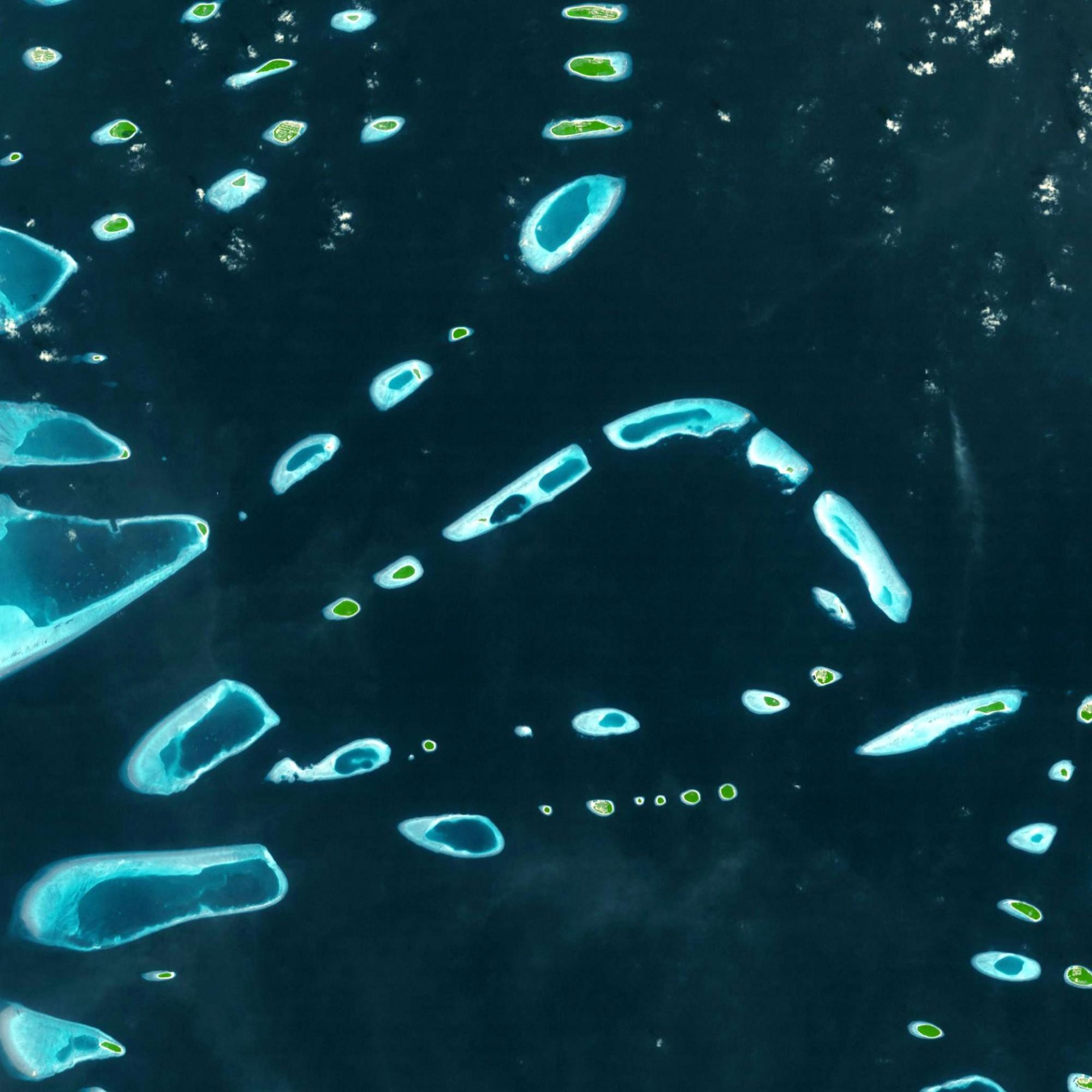 Malediven aus dem Orbit.