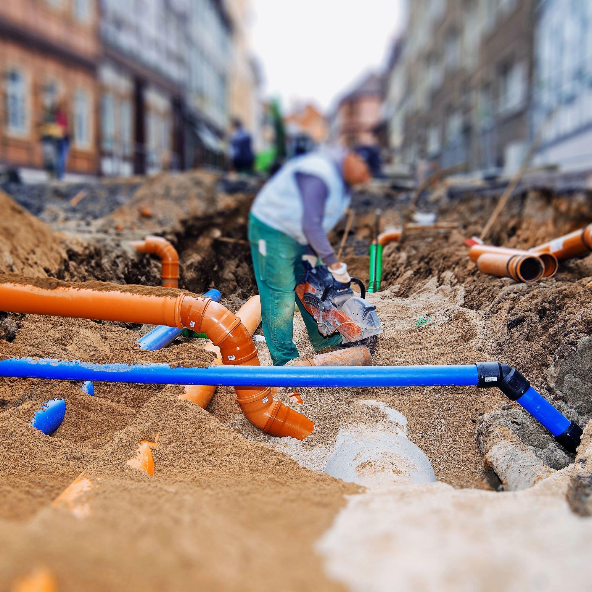 Kanalisationsarbeiten: Der Inframonitor ermöglicht den Gemeinden faktenbasierte Entscheidungen.