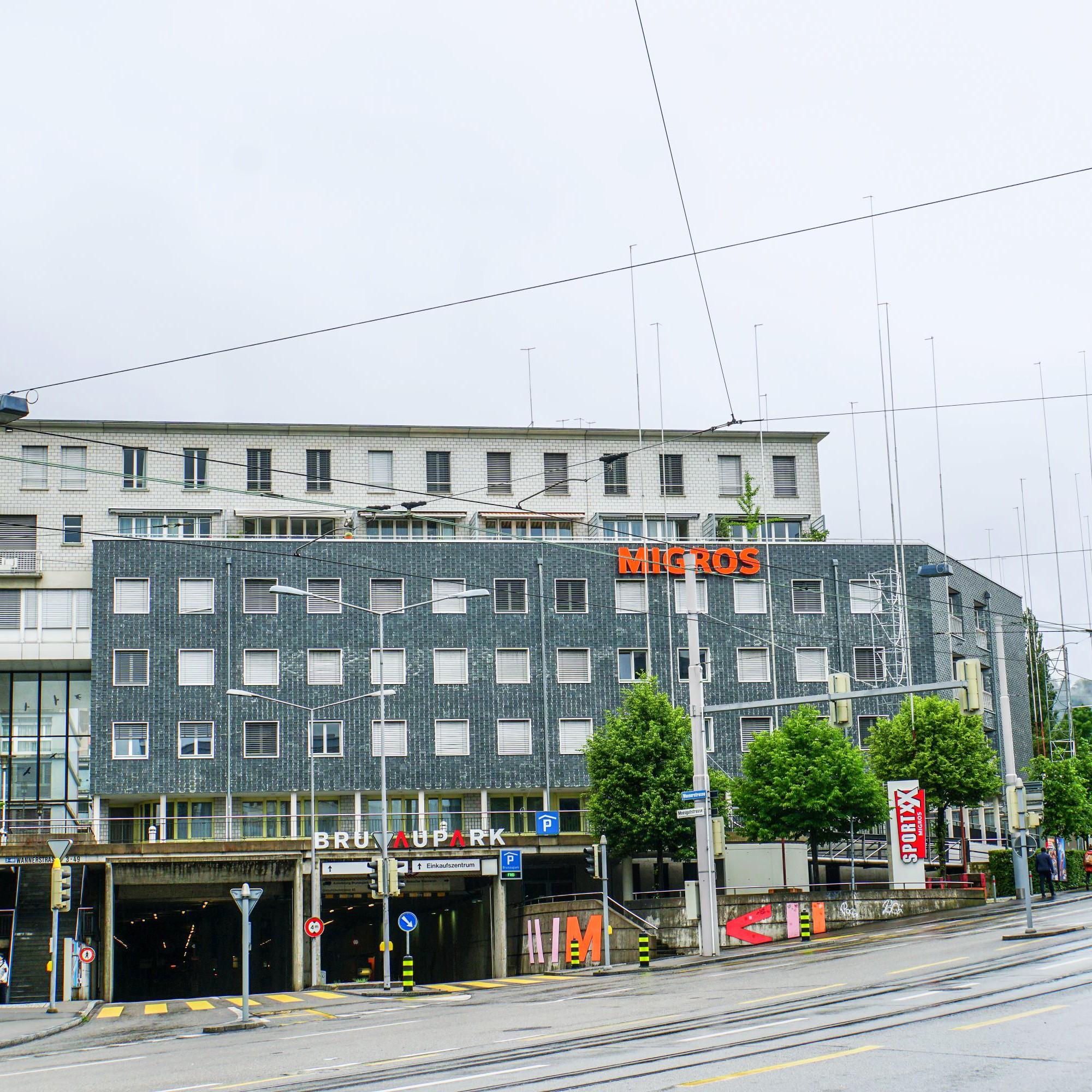 Das Gesuch für den Ersatzneubau «Brunaupark» mit Wohnungen und Retailflächen umfasst ein Investitionsvolumen von 250 Millionen Franken.