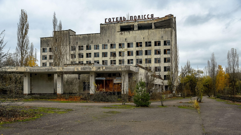 Das Polissya Hotel war eines der grössten Gebäude in Pripyat.