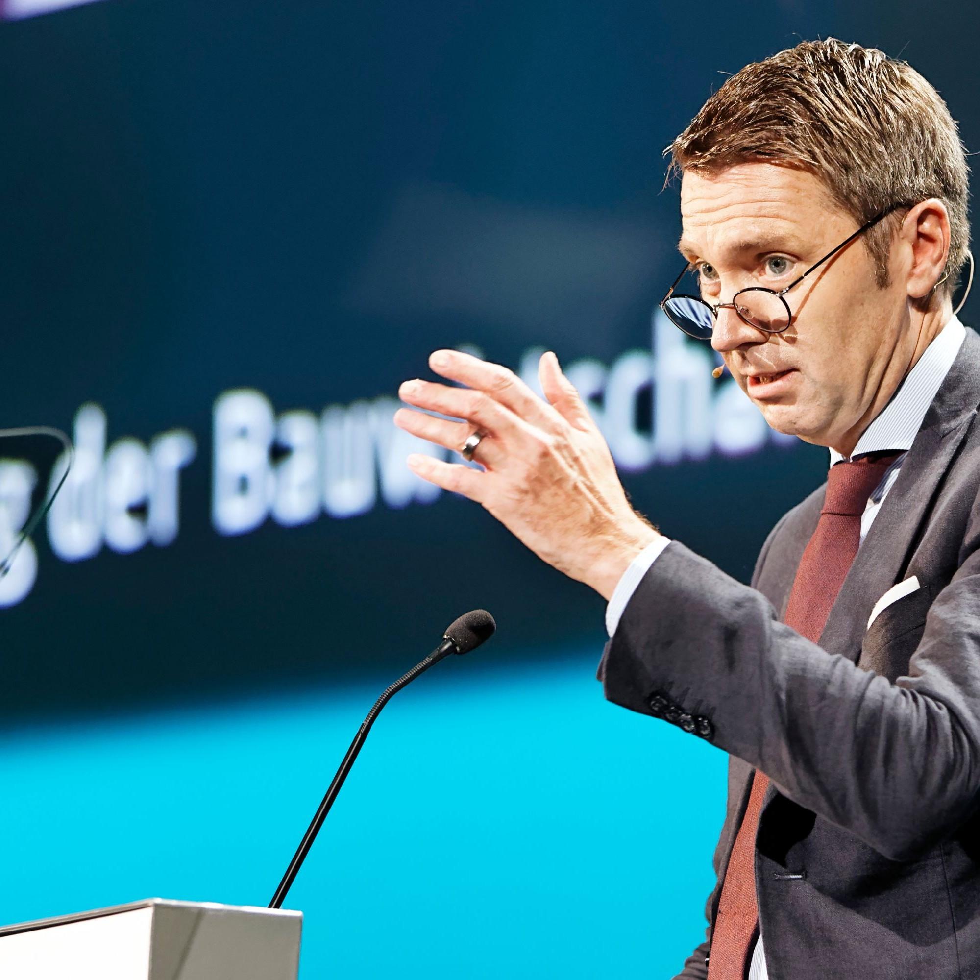 Tag der Bauwirtschaft in Basel: Avenir-Suisse-Direktor Peter Grünenfelder.