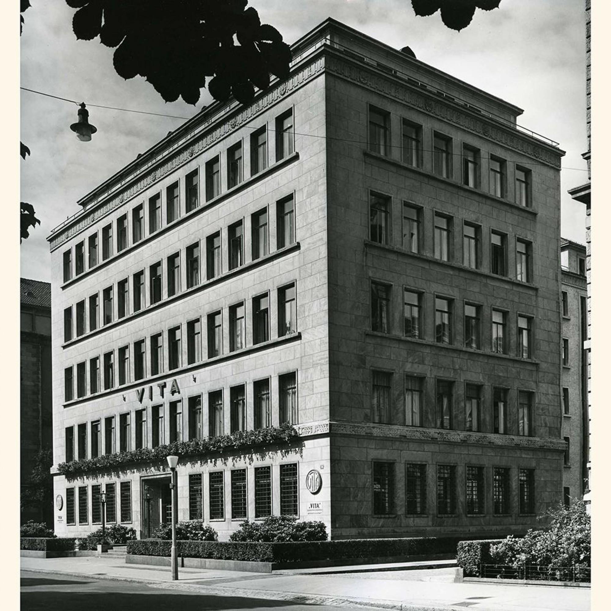 Ebenfalls denkmalgeschützt: Der 1932 errichtete Hauptsitz der Vita Lebensversicherung AG,einer Tochtergesellschaft, die im Jahr 1922 gegründet worden war.