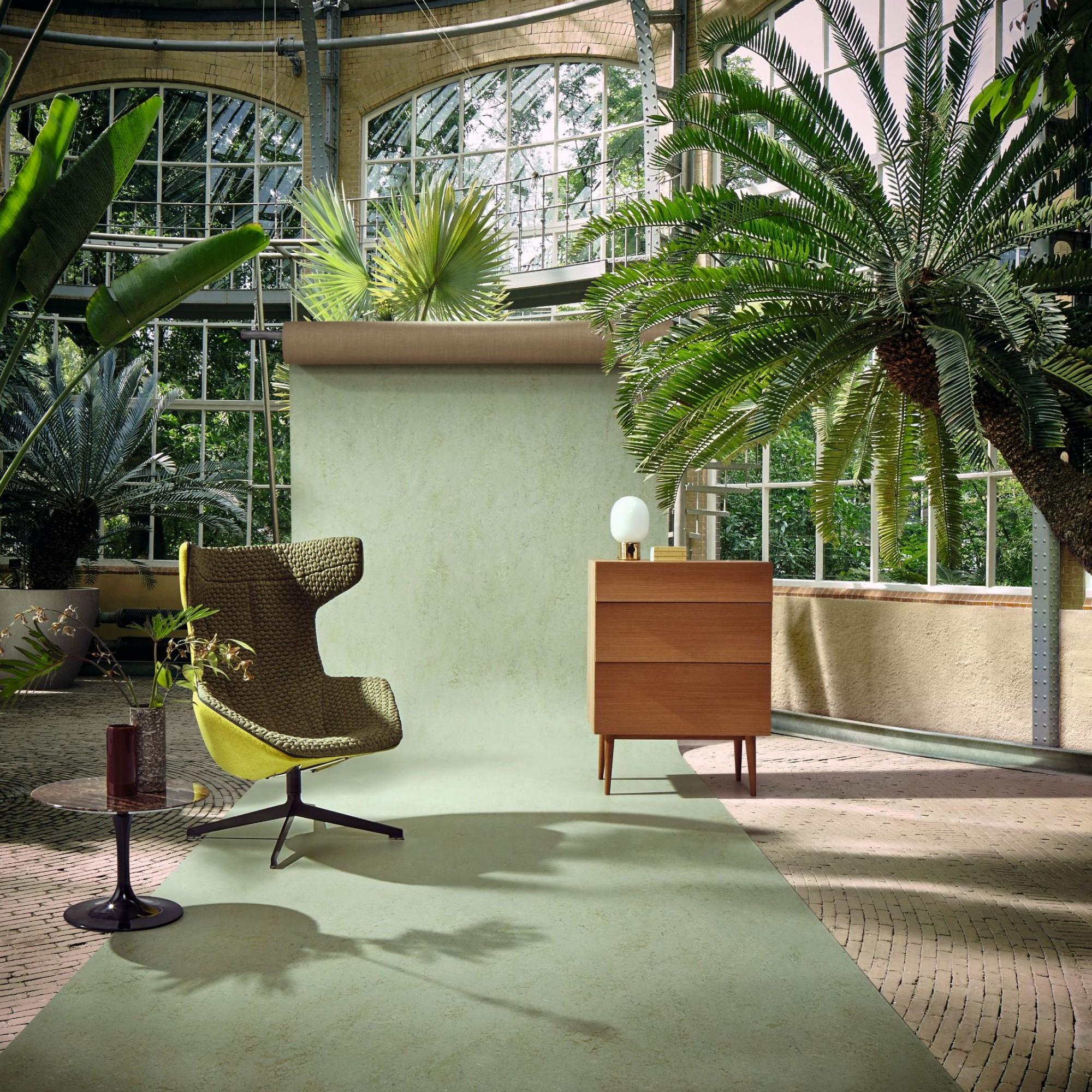 Die modernen Linoleumböden erleben dank ihrer grossen Farb- und Designvielfalt in den letzten Jahren ein Revival.