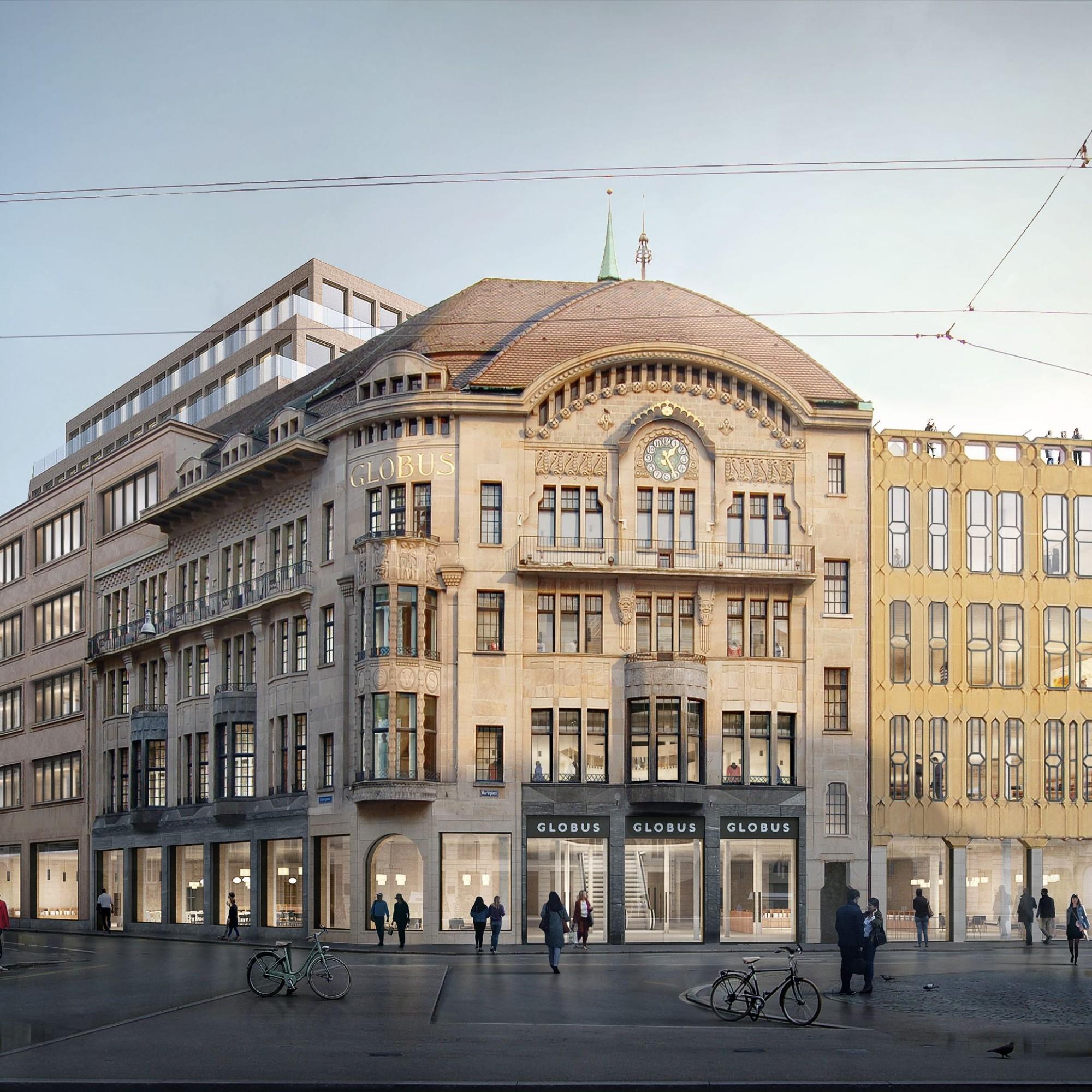 Visualisierung: So soll der Globus in Basel dereinst aussehen.
