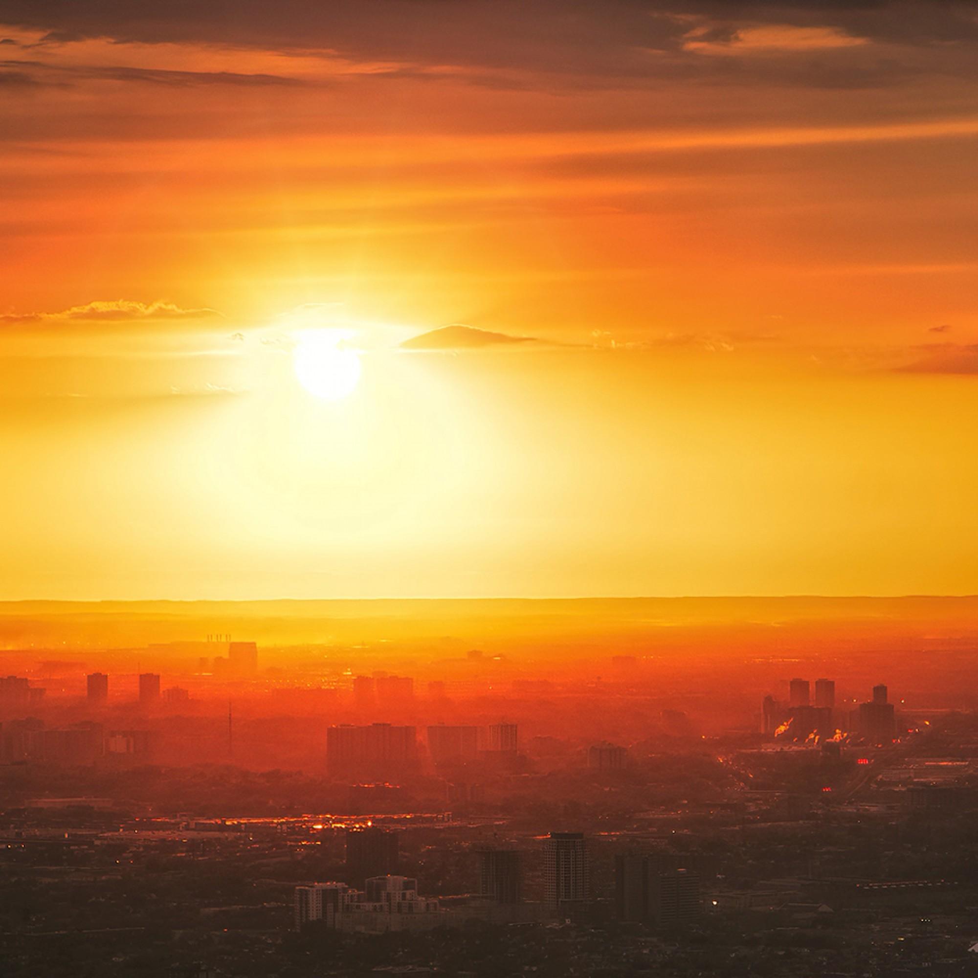 Sonnenuntergang, Symbolbild.