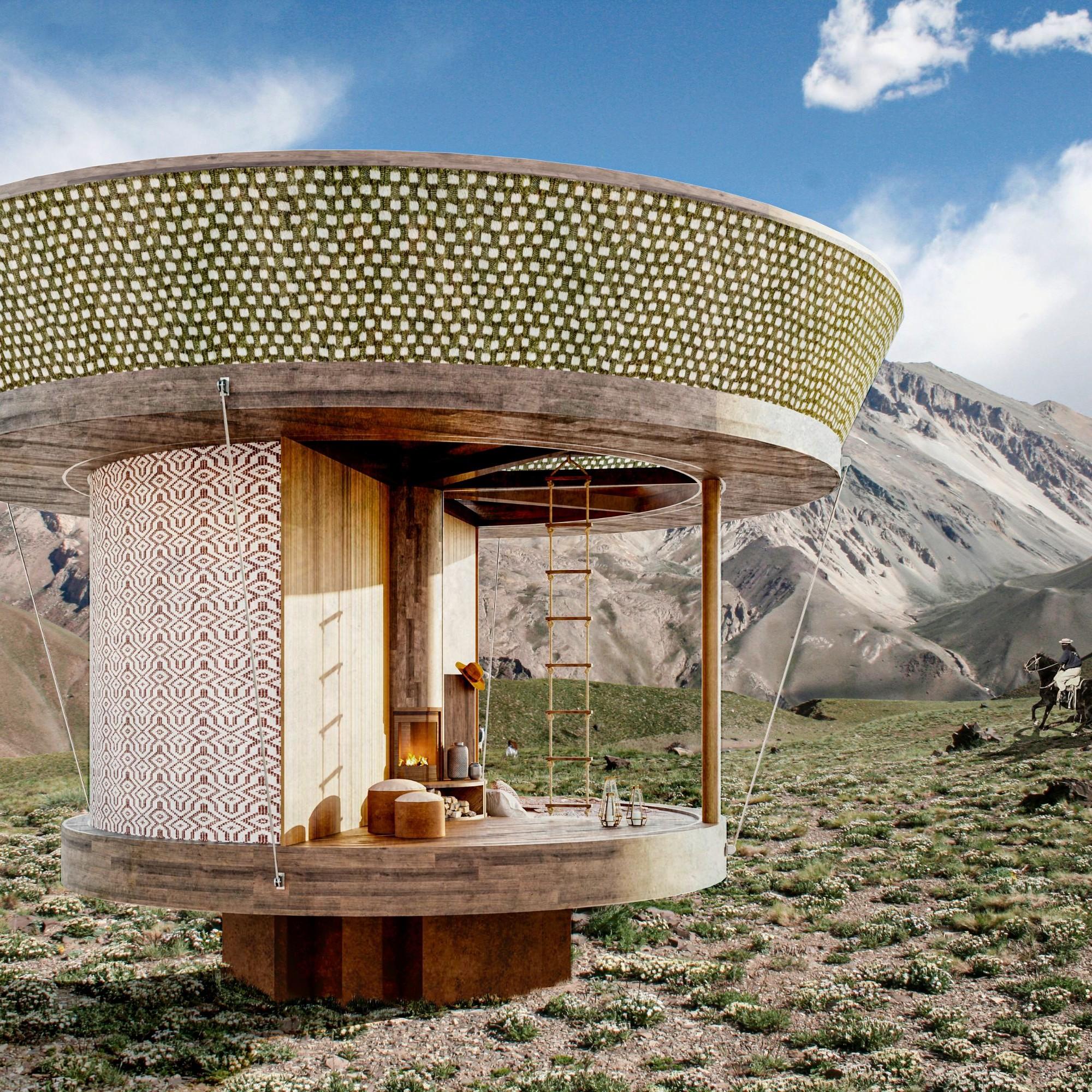 Das Minihaus ist auf solidem Fundament gebaut und bietet Schutz. Die feine Hülle ermöglicht zugleich ein unmittelbares Erleben der Natur.