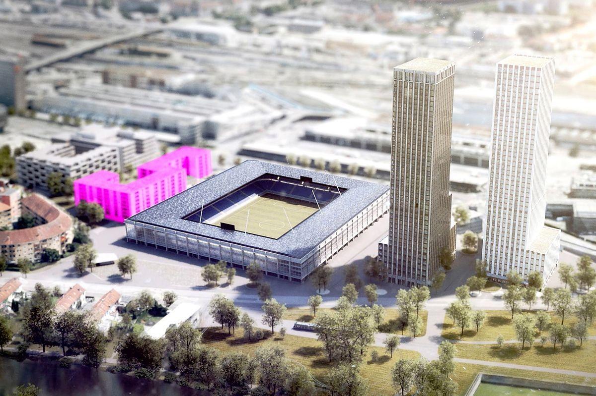 Visualisierung Hardturm-Stadion Zürich