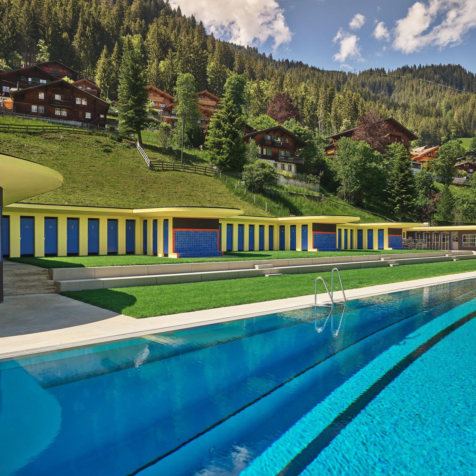 Schwimm- und Sonnenbad in Adeloboden