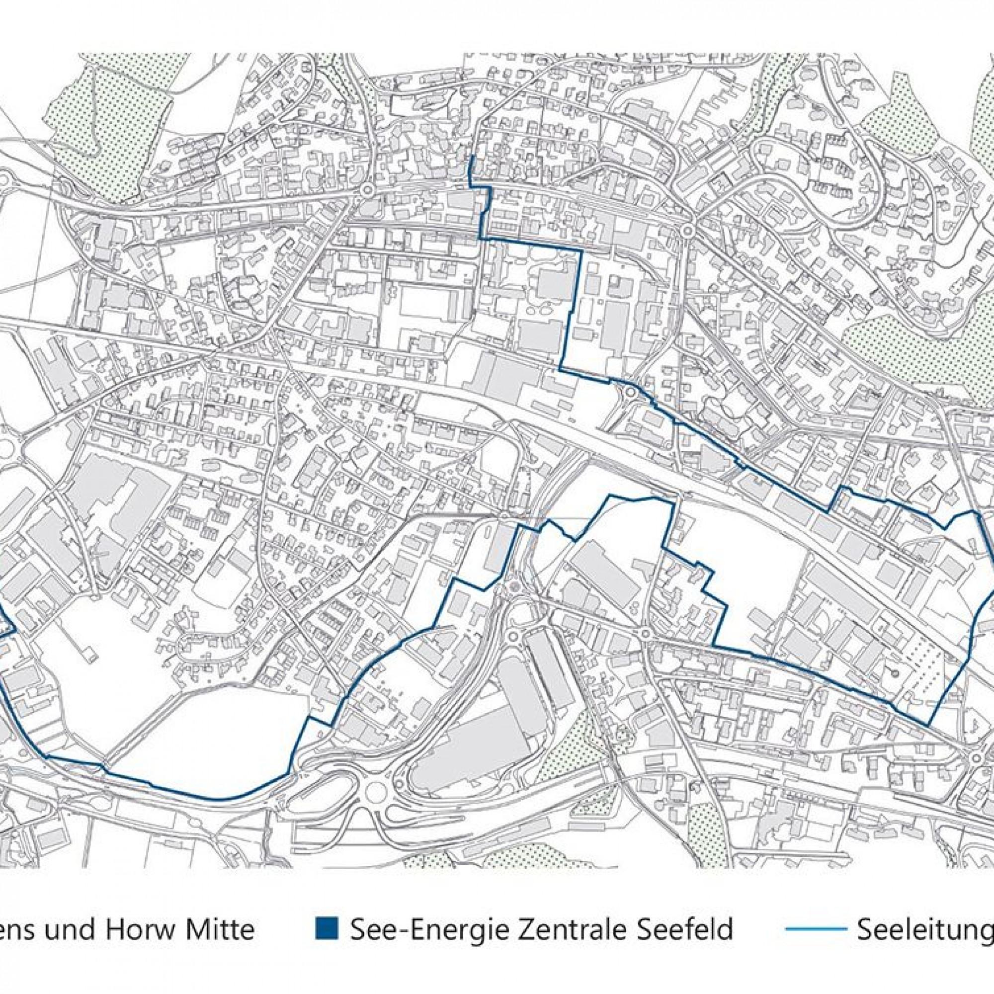 So sieht das See-Energie-Netz in Horw und Kriens aus. Zurzeit sind rund 30 Quartierzentralen geplant.
