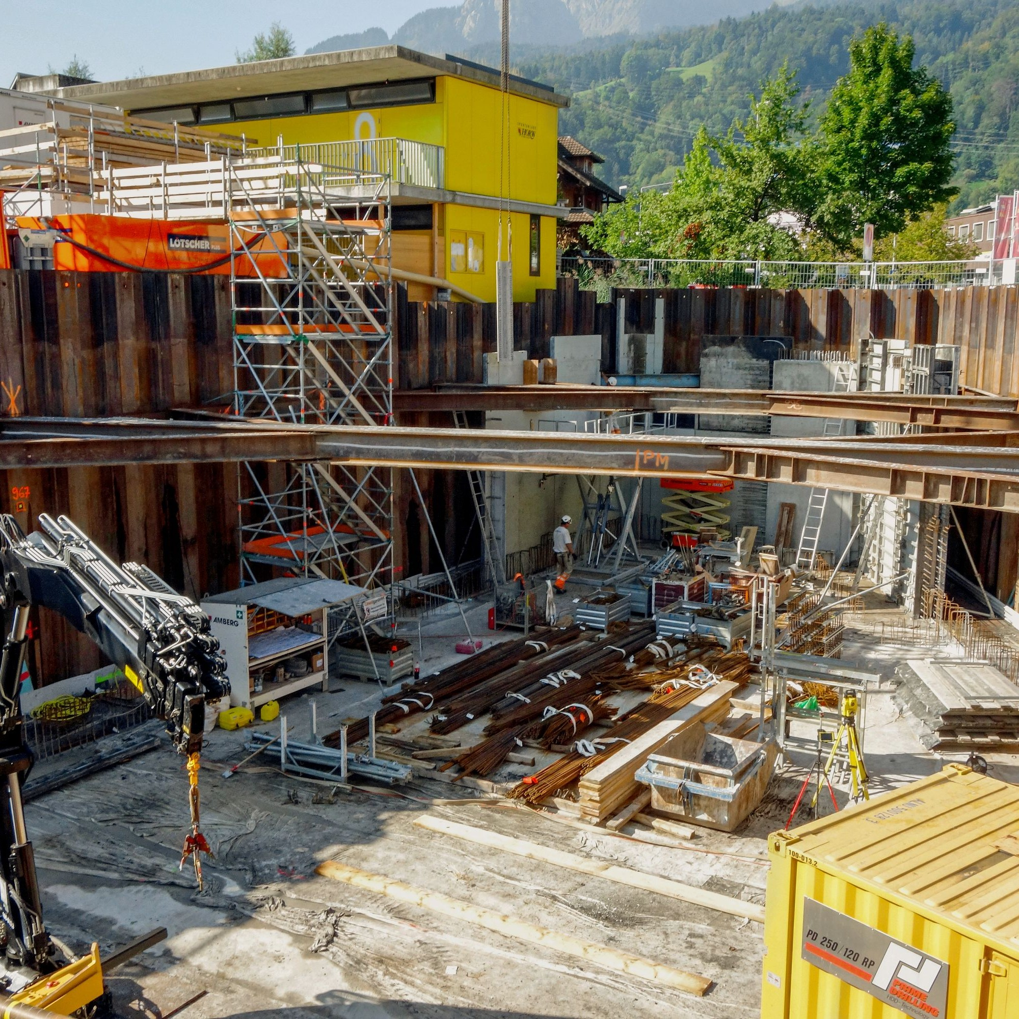 Wegen des instabilen Untergrunds kommt der Baugrubensicherung in Horw eine entscheidende Rolle zu.