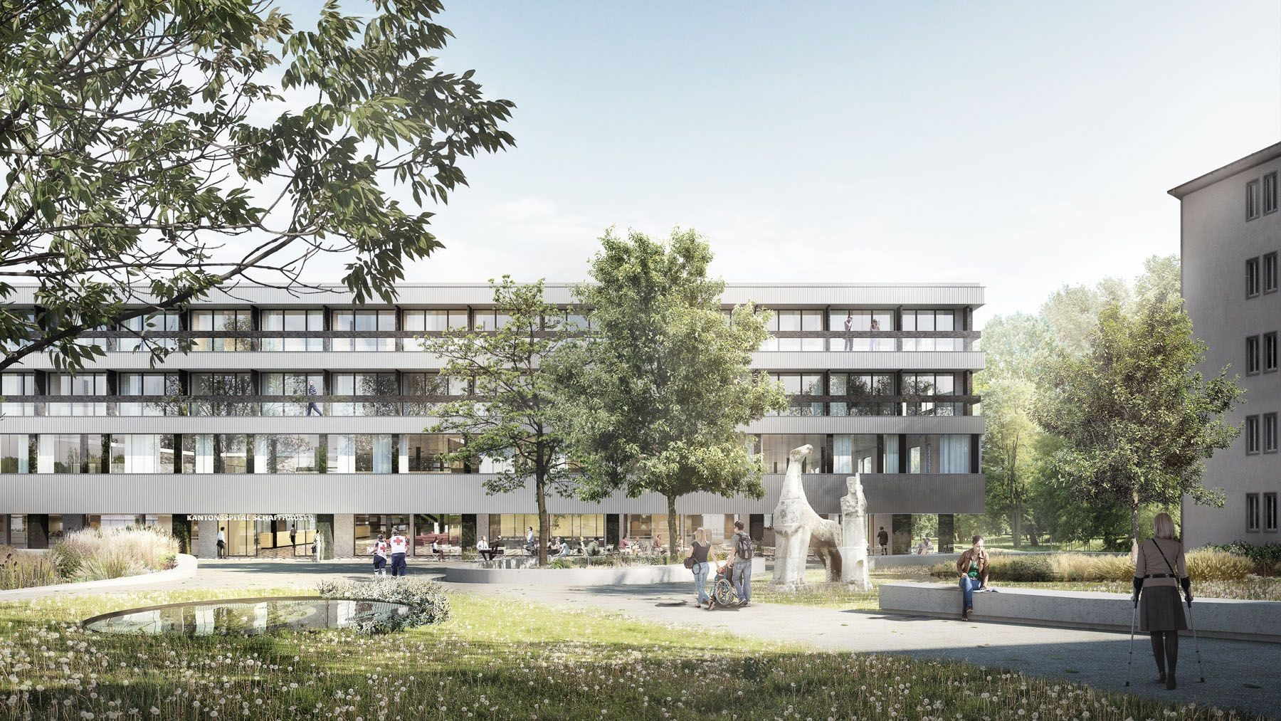 Visualisierung Ersatzneubau Kantonsspital Schaffhausen