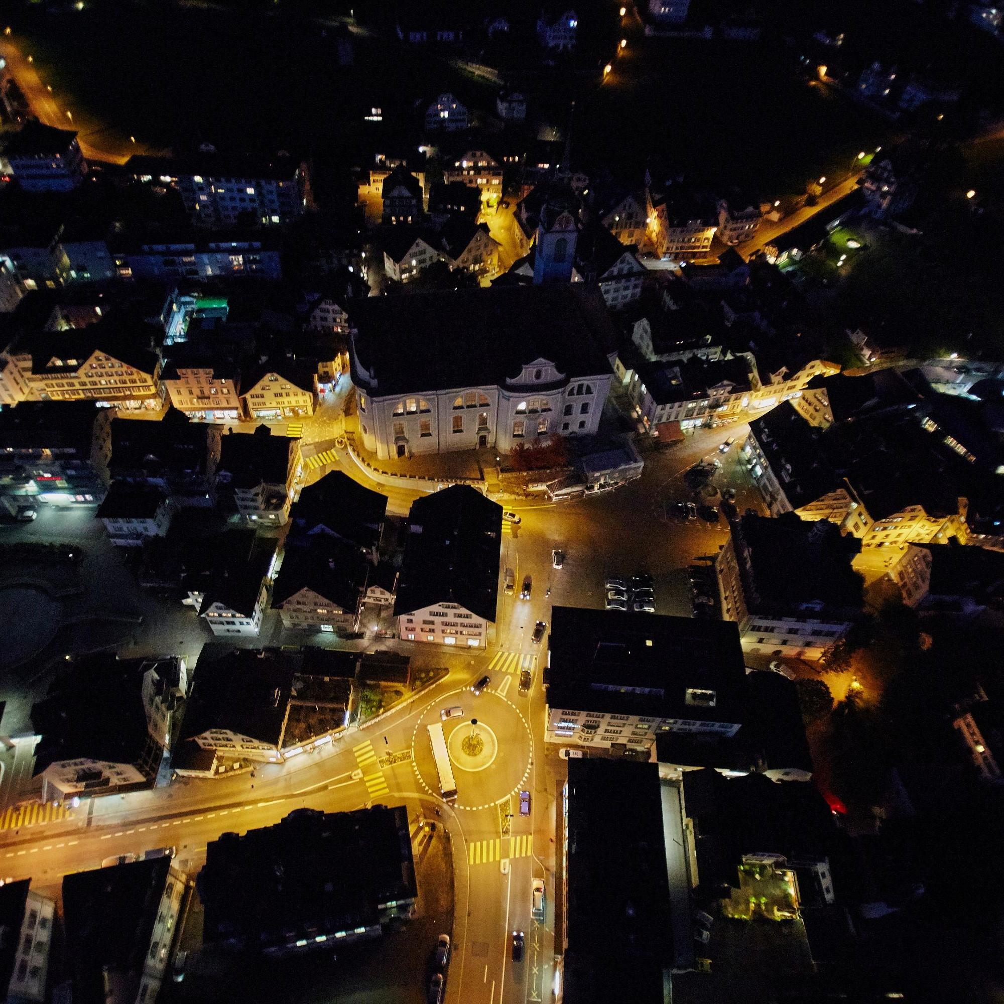 Nachtbeleuchtung Schwyz