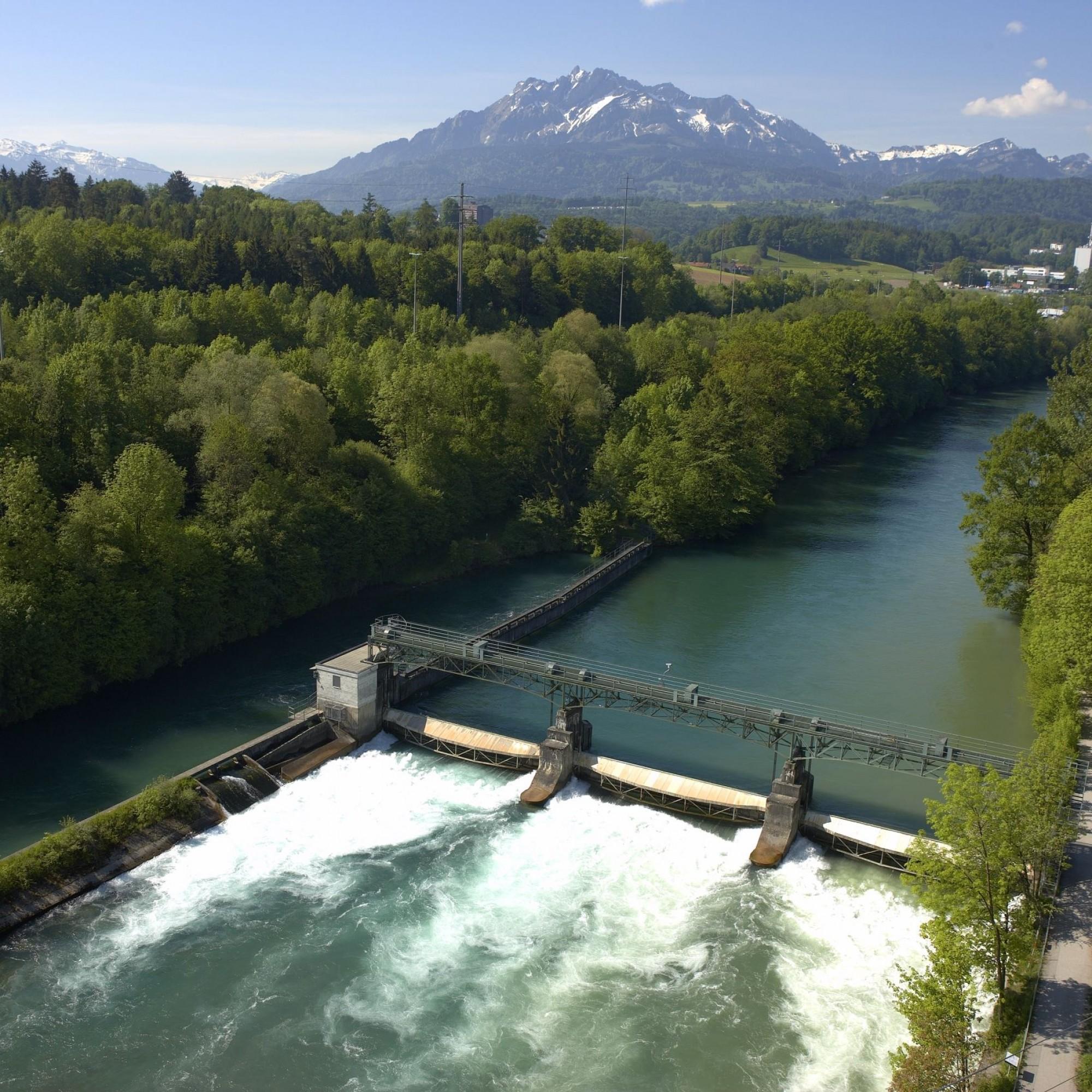 Wasserkraftwerk Rathausen Emme CKW