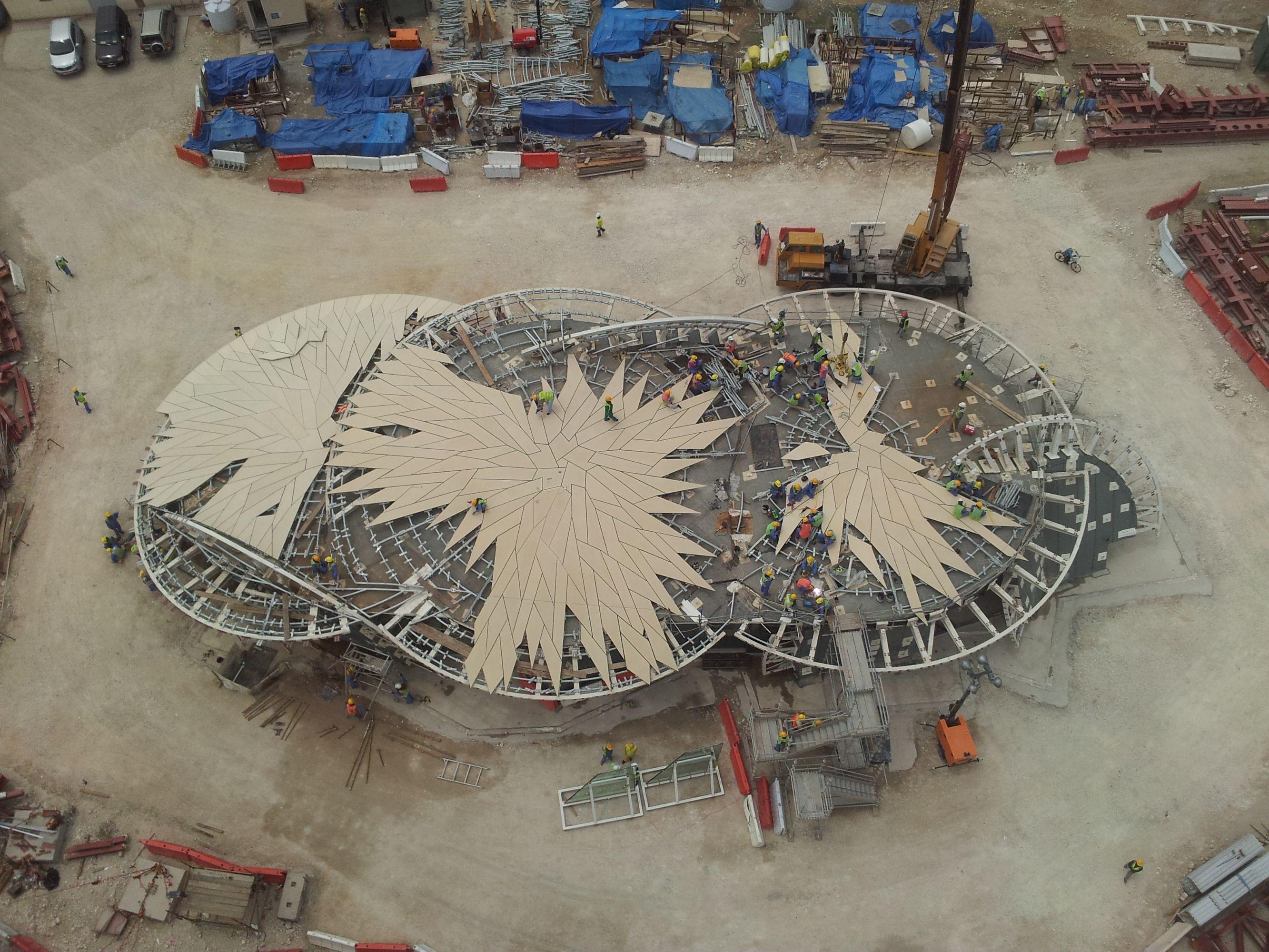 Bau des Pavillons bei Nationalmuseum Katar