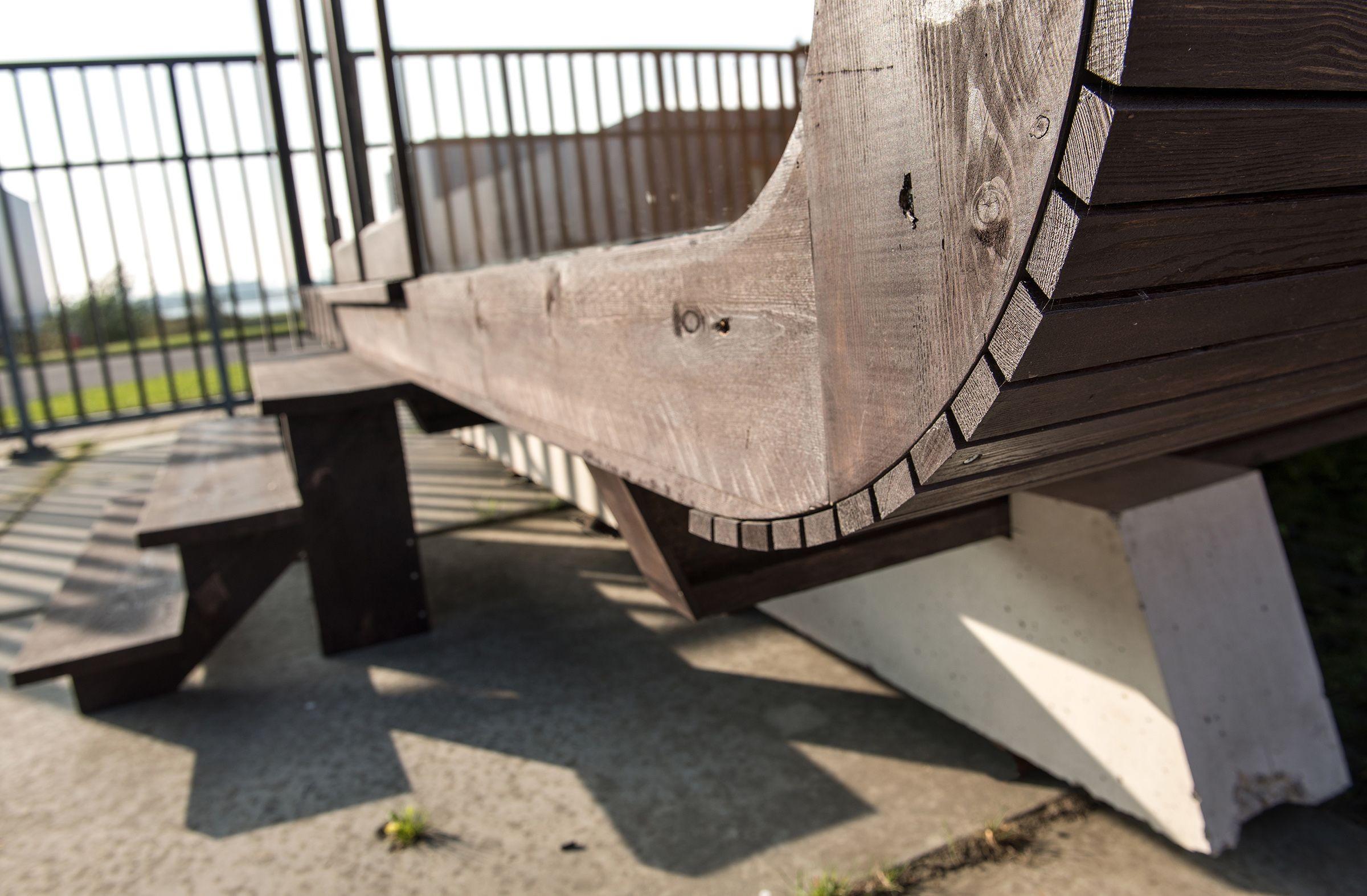 Detail thermisch modifizierte Holzfassade Wikkelhouse
