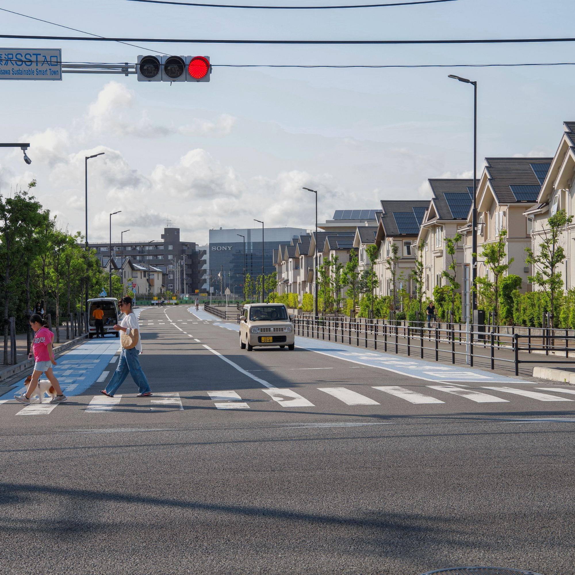 Einfahrt zu Fujisawa Sustainable Smart Town Japan