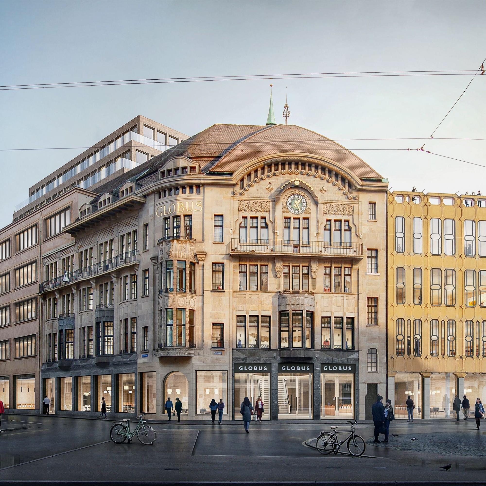 Denkmalgeschütztes Globus-Warenhaus Basel