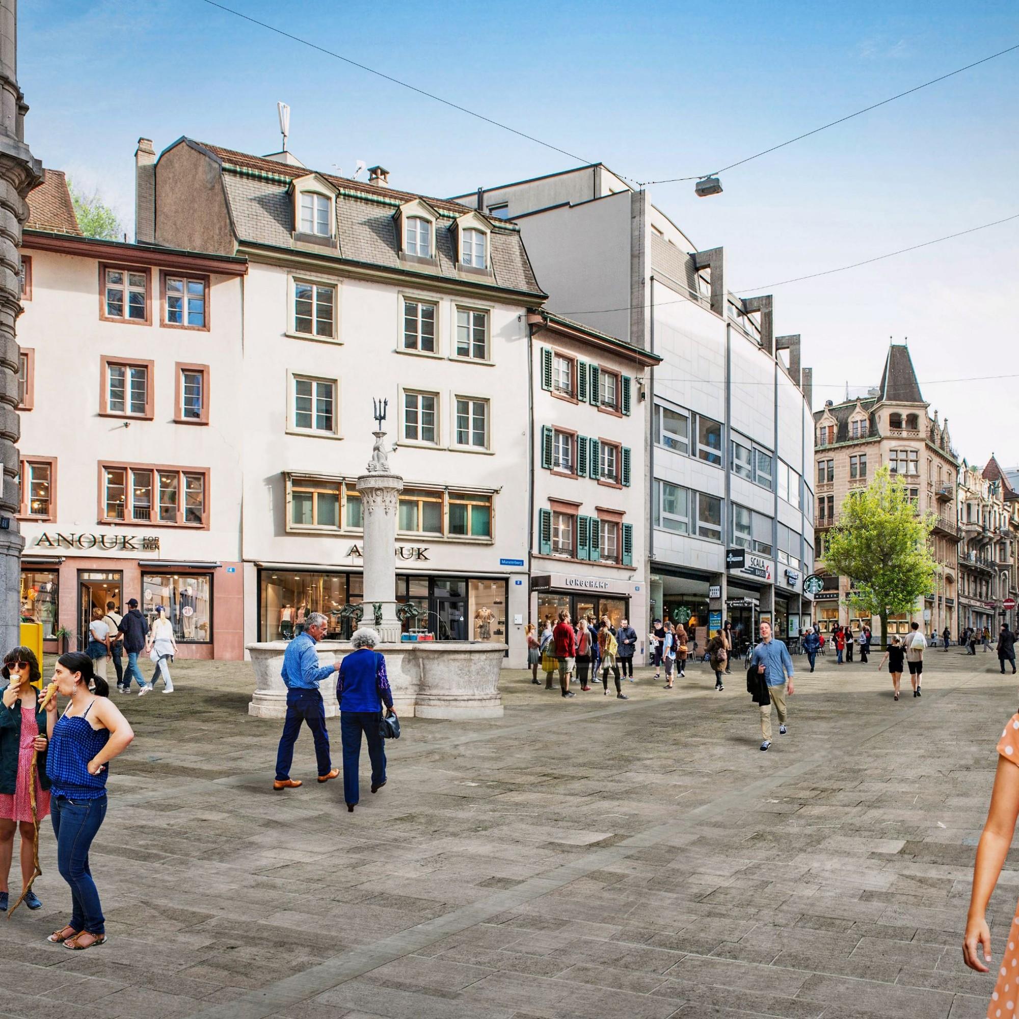 Freie Strasse Einkaufsstrasse Basel