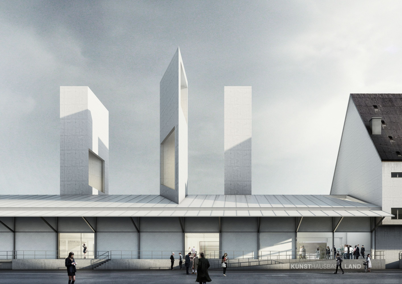 Visualisierung neues Kunsthaus Baselland