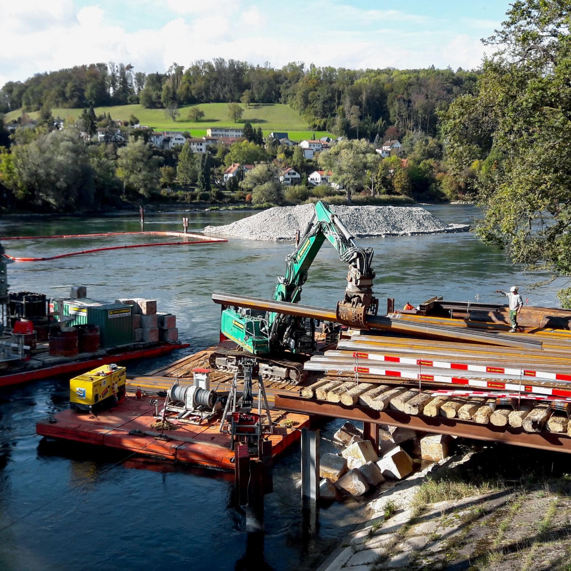 Zweiter Installationsplatz Aarebrücke