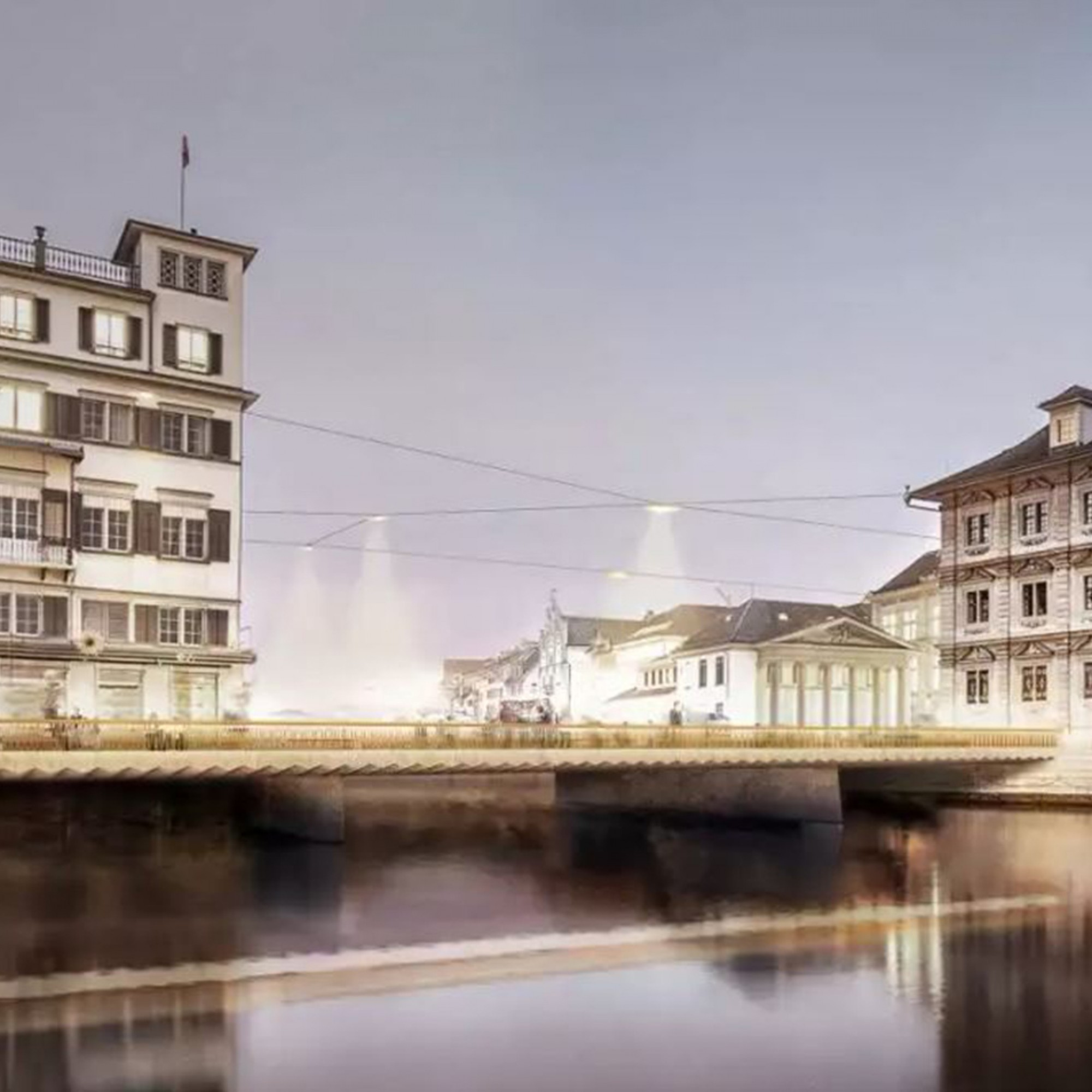 rathausbrücke zürich, projekt neubau