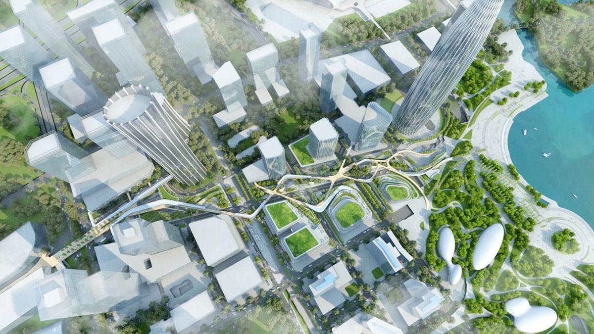 Masterplan Shenzhen Bay Avenue China