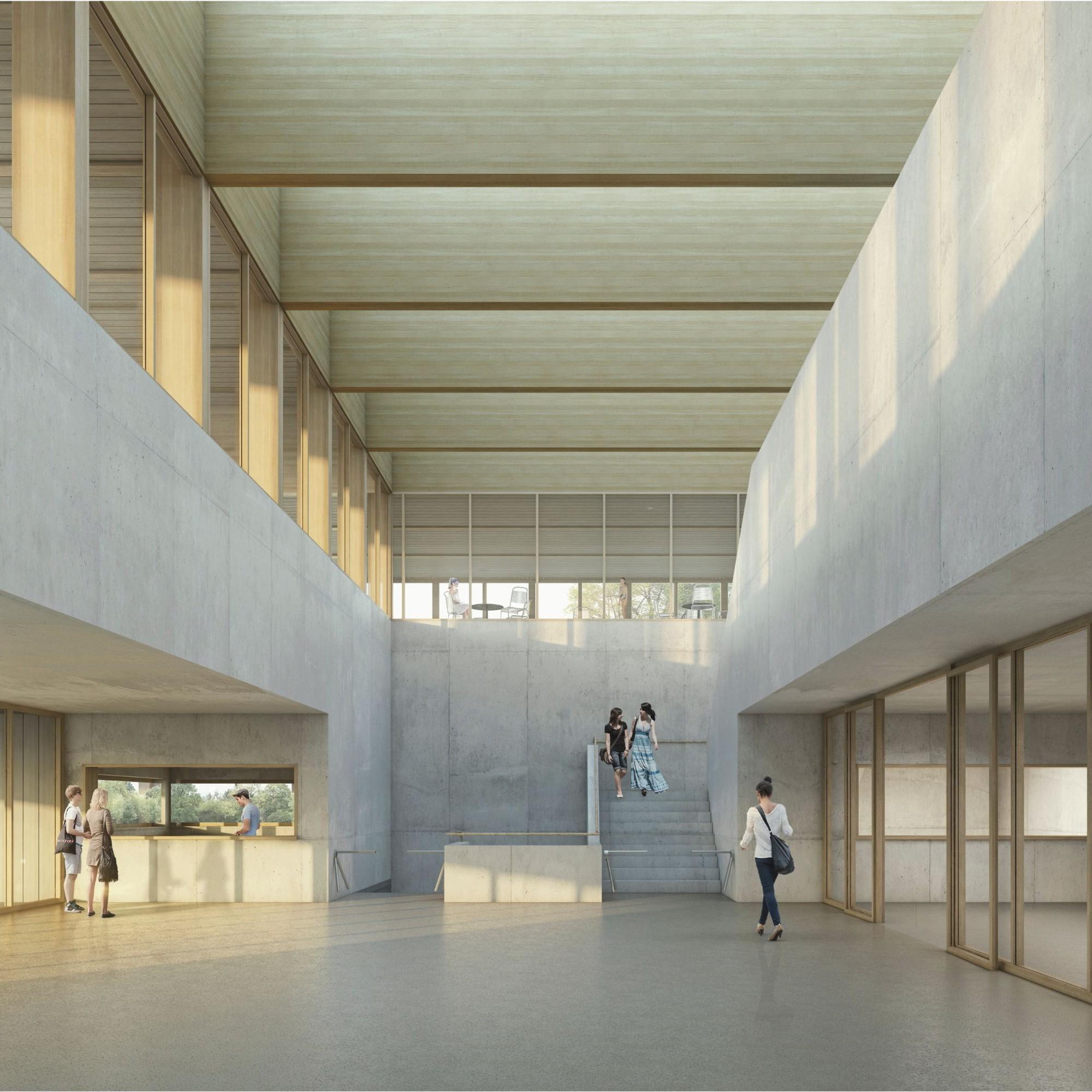 Visualisierung Neubaus Hallenbad Eisbahn Weyerli