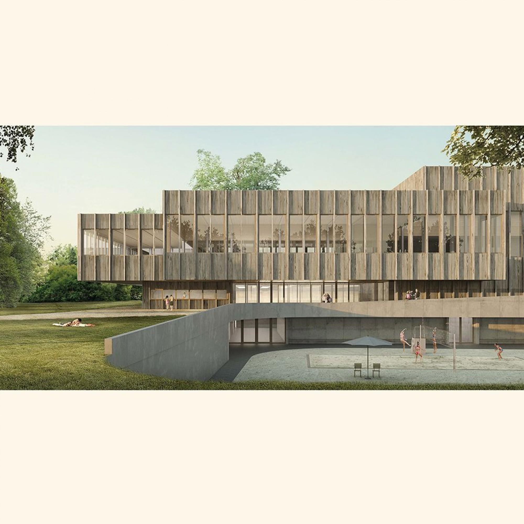 Visualisierung Neubau Eishalle Hallenbad Weyerli