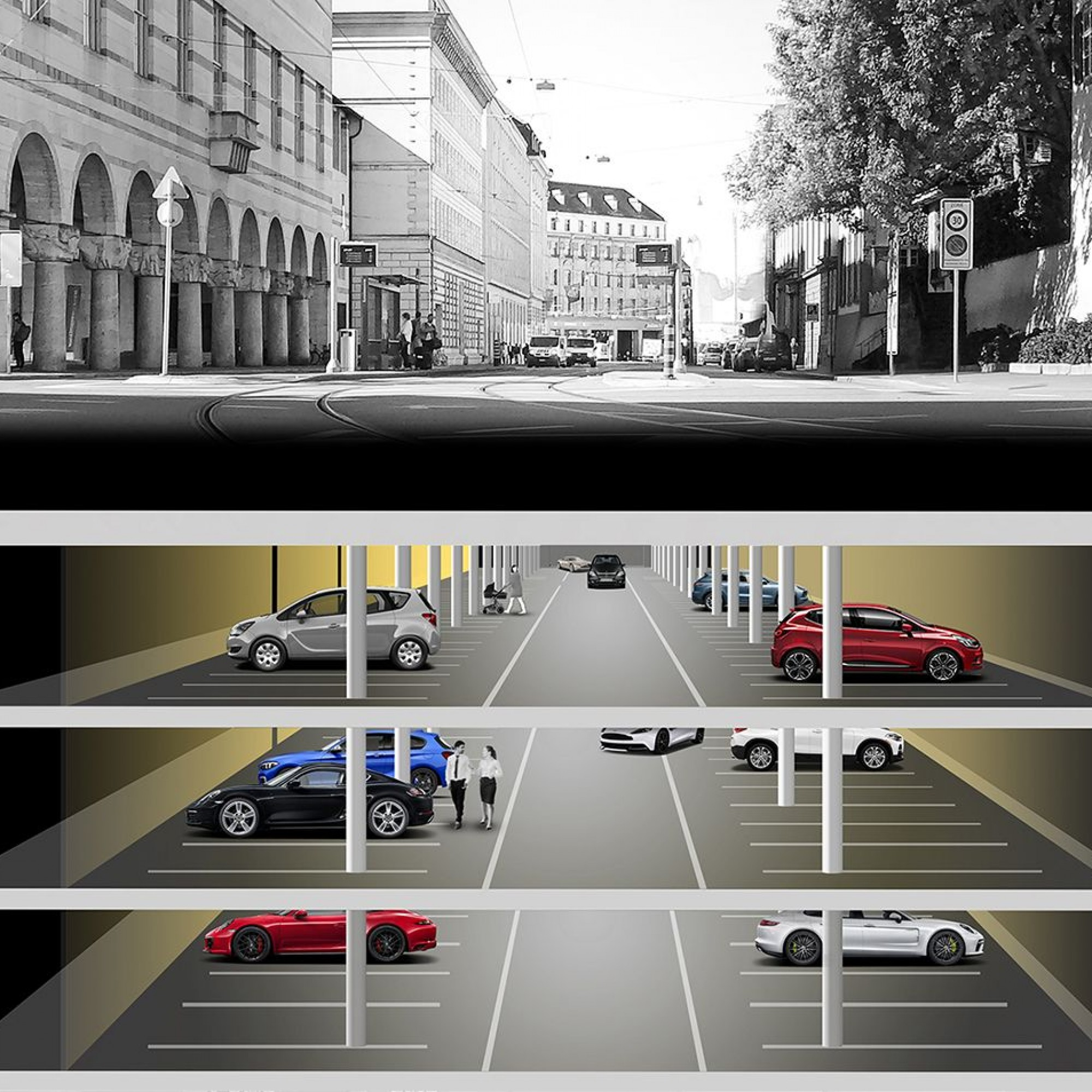 Visualisierung Kunstmuseum-Parking Basel
