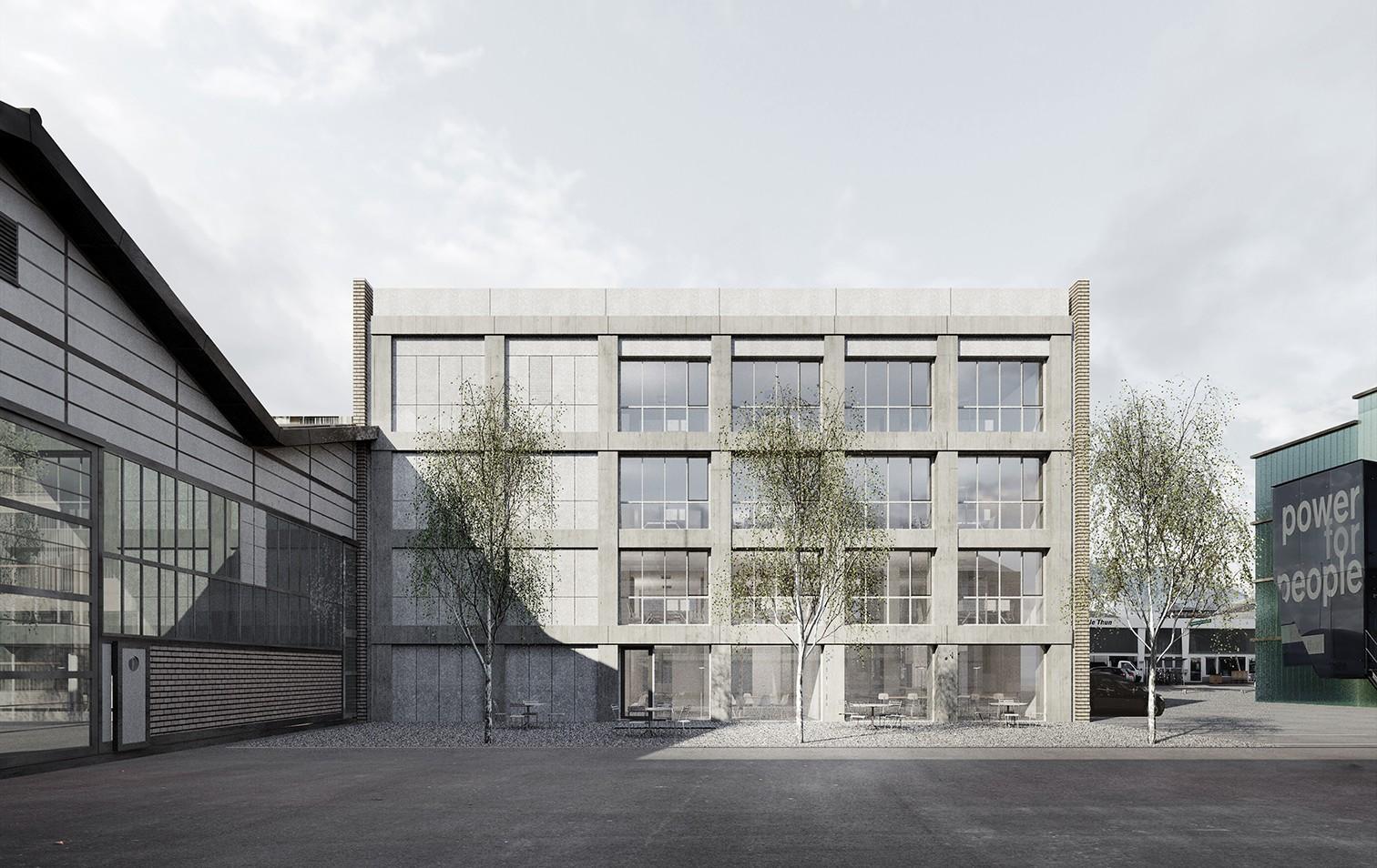 Visualisierung Erweiterungsbau Verwaltungsgebäude Industriestrasse Thun